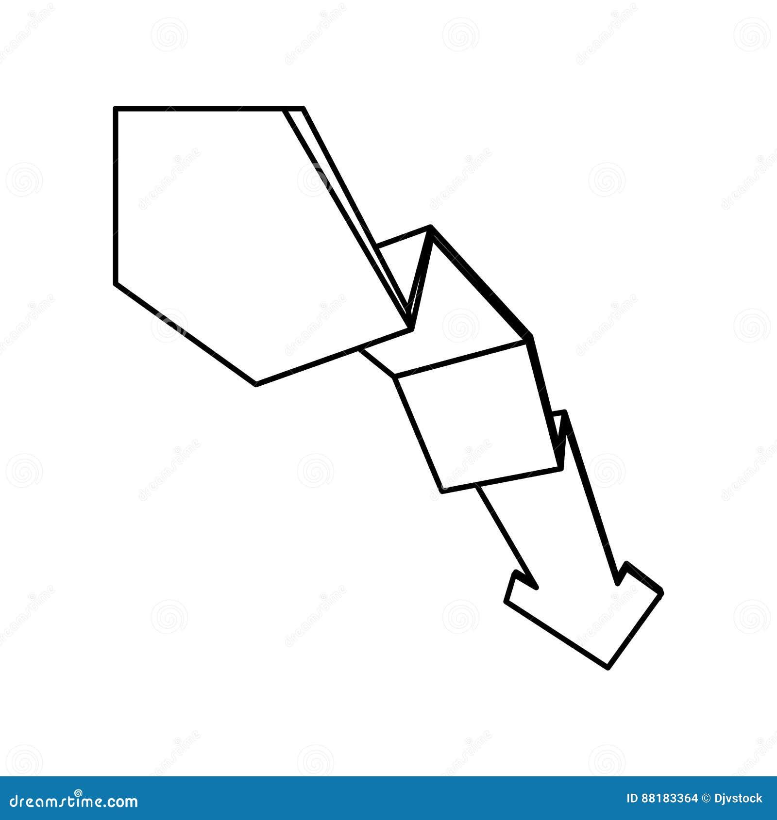 Arrow Down Decrease Stock Illustration Image Of