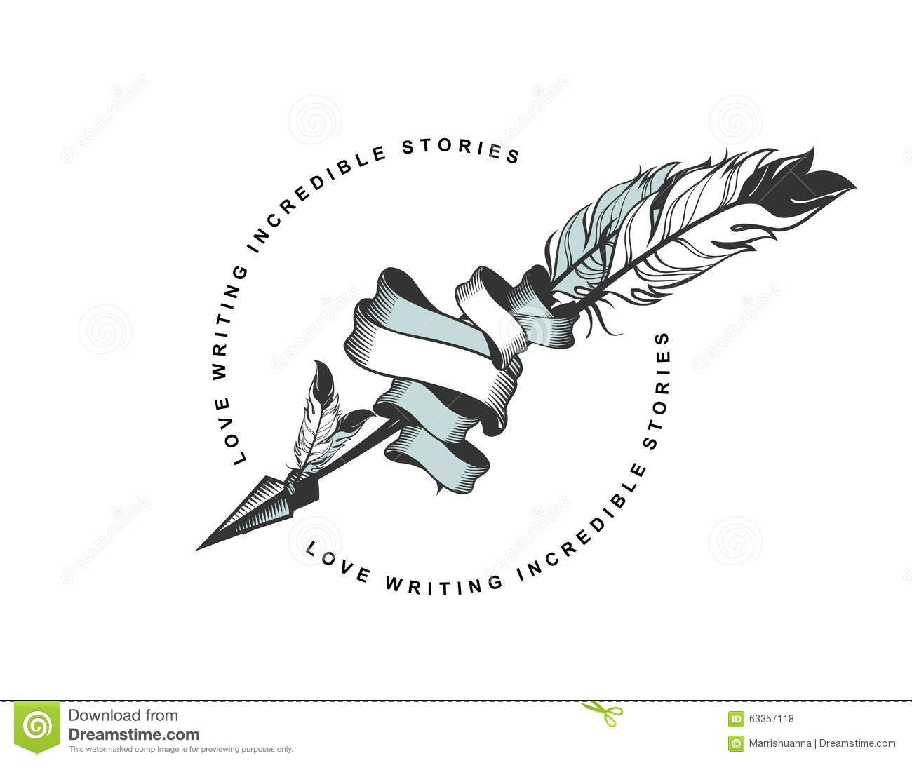 Arrow With Feather Emblem Stock Vector - Image: 63357118