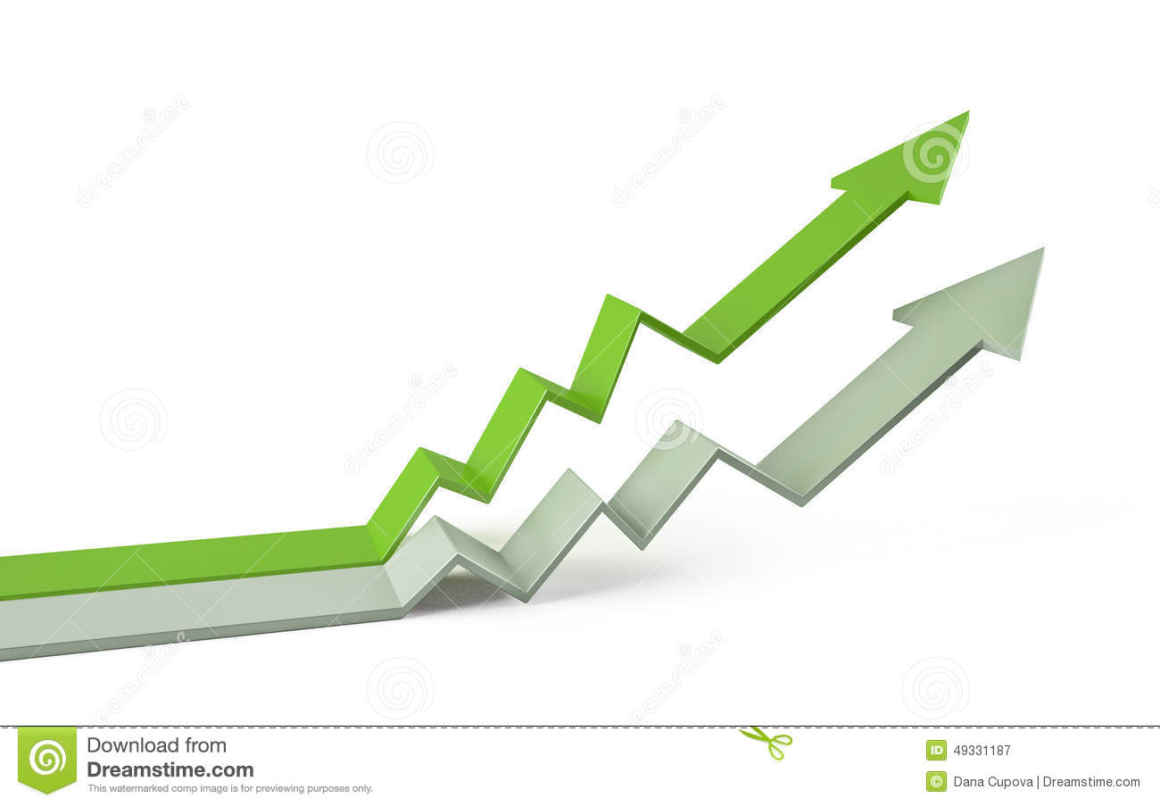 Arrow Graph Chart 3d Stock Photo - Image: 49331187