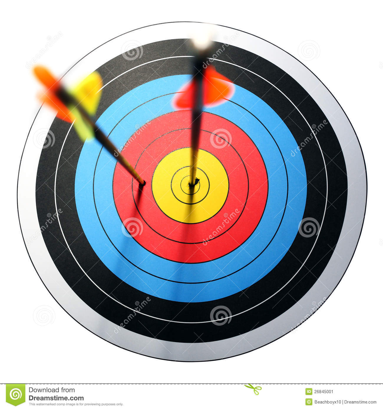 Download Arrow Hits Target, One Missed Stock Image - Image of goal, archery: 26845001