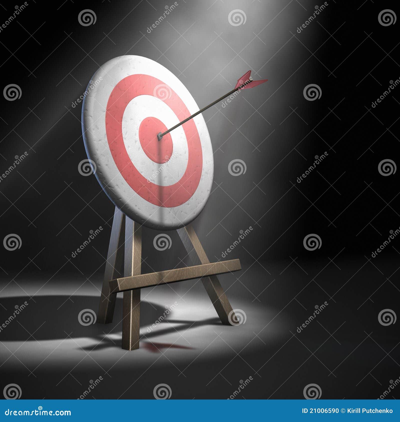 Arrow Hitting Target Stock Photo Image 21006590