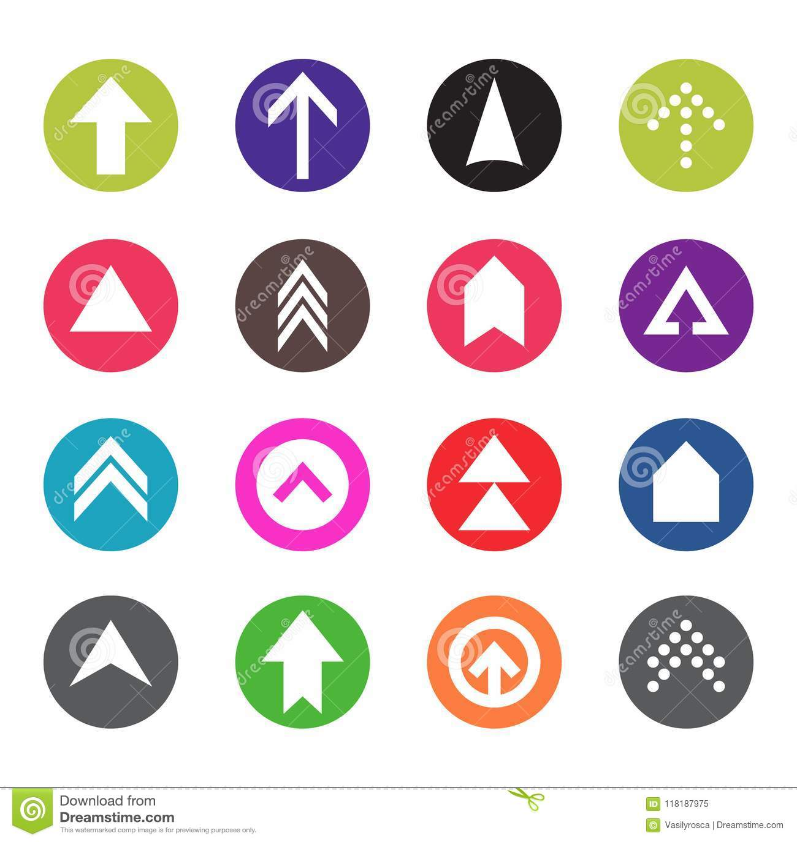Arrow Icon Set Web Arrow Pictogram Design Internet Elements