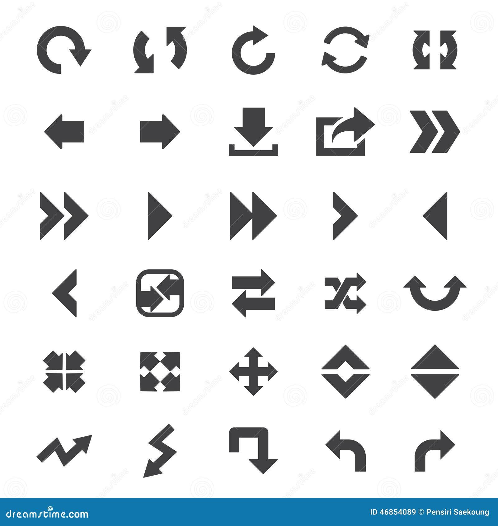 Arrow Icon Set Stock Vector Illustration Of Chart Move 46854089
