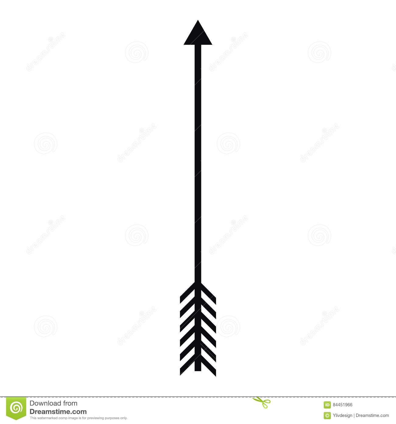 Arrow icon simple style stock vector image of direction for Illustration minimaliste