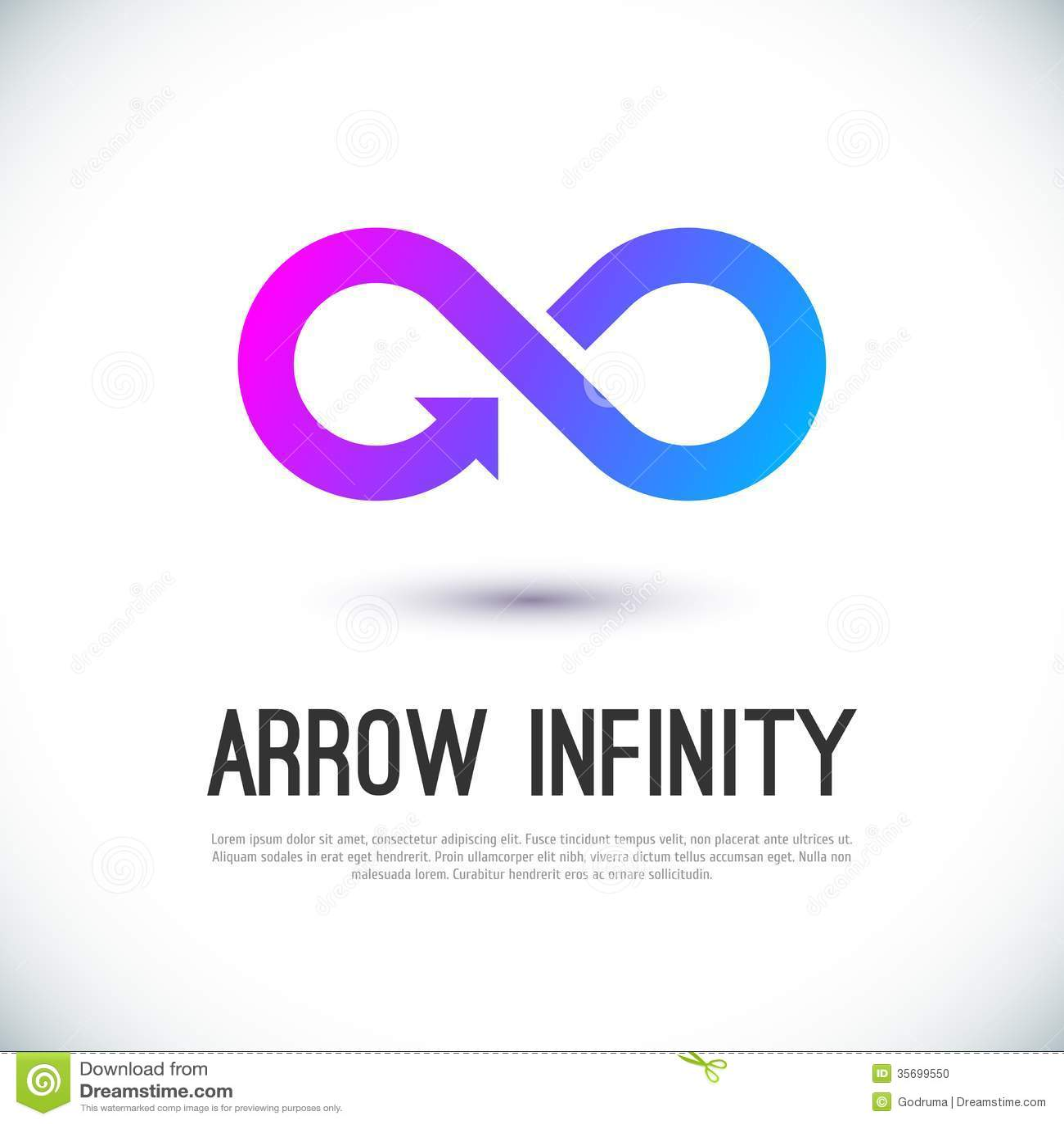 arrow infinity business vector logo stock vector