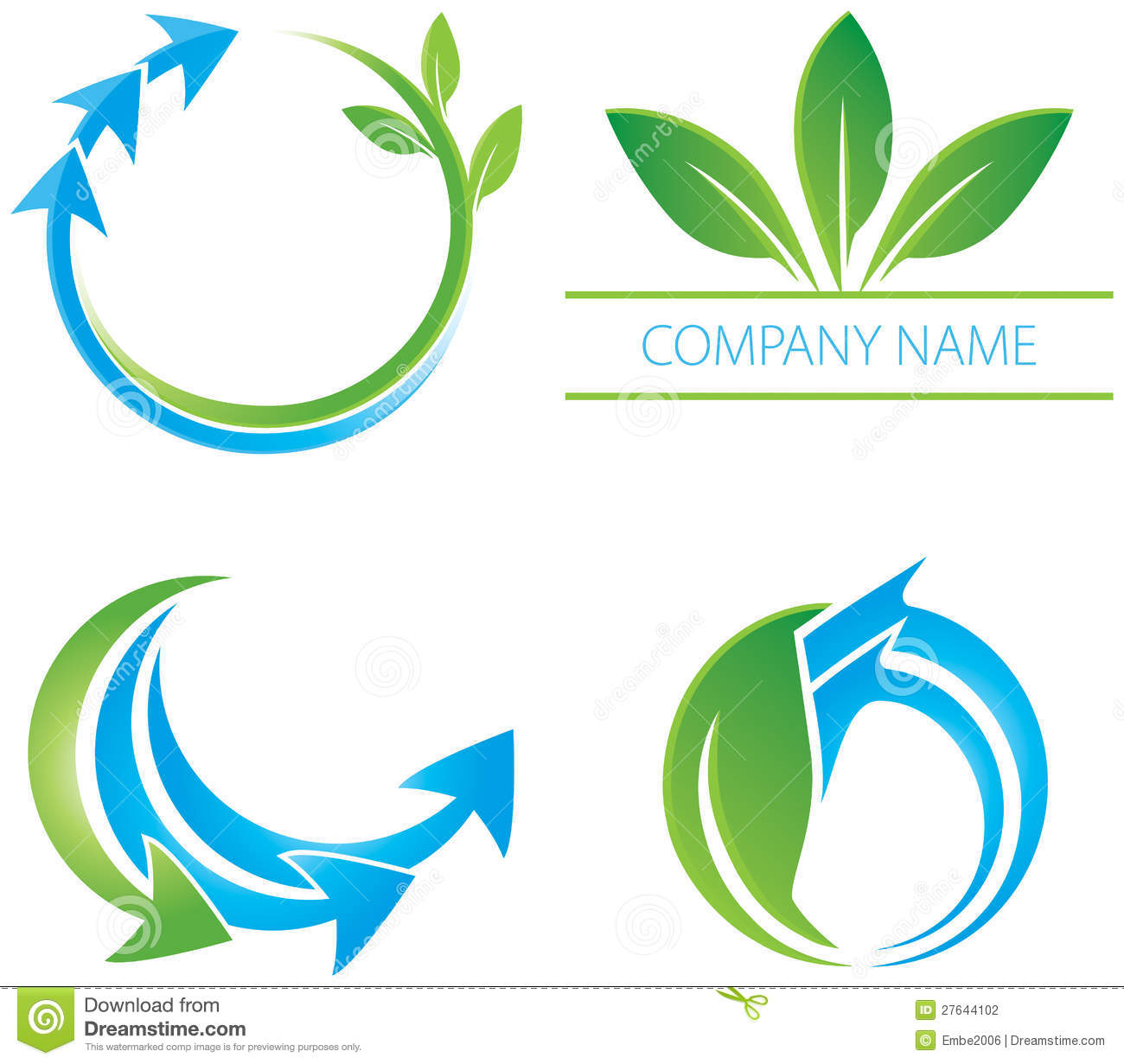 Arrow Leaf Logo Stock Photography - Image: 27644102