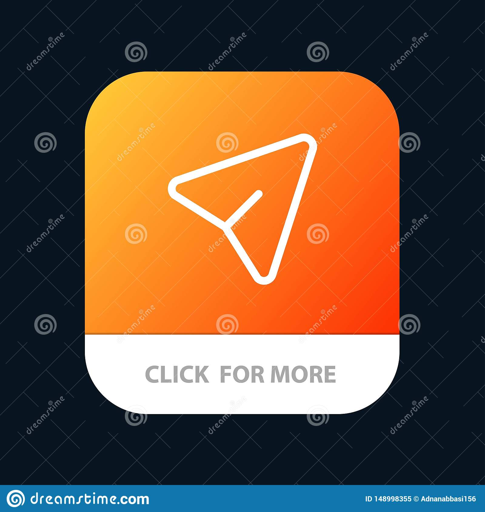 Arrow, Pin, Mouse, Computer Mobile App Button  Android And