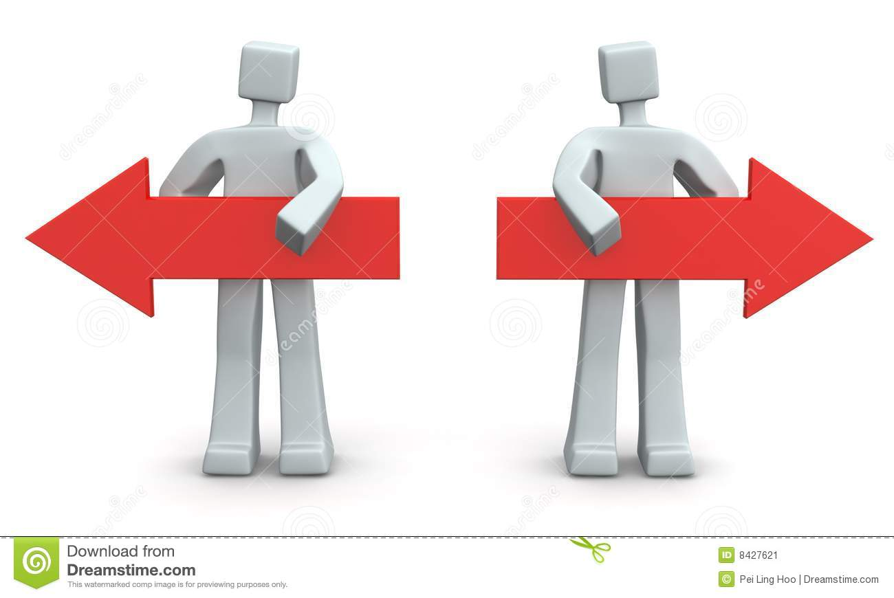 Arrow Pointing To Left And Right Stock Image  Image: 8427621