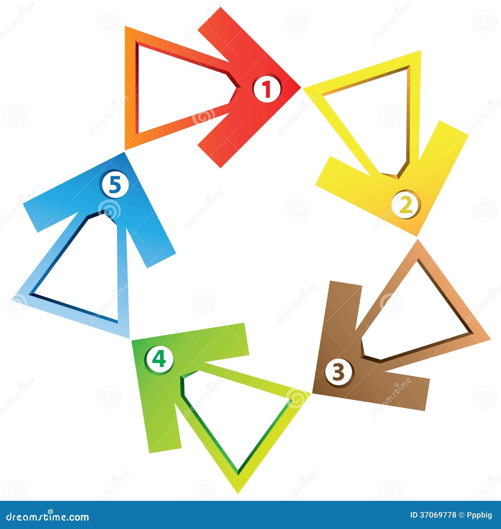 arrow process diagram stock illustration  illustration of