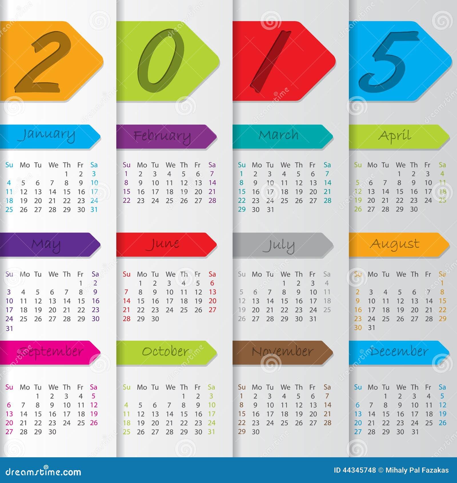Calendar Ribbon Design : Arrow ribbon calendar for the year stock vector