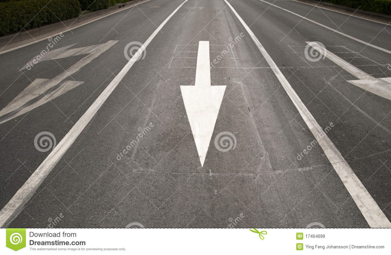 Arrow Sign On Road Royalty Free Stock Images - Image: 17464699