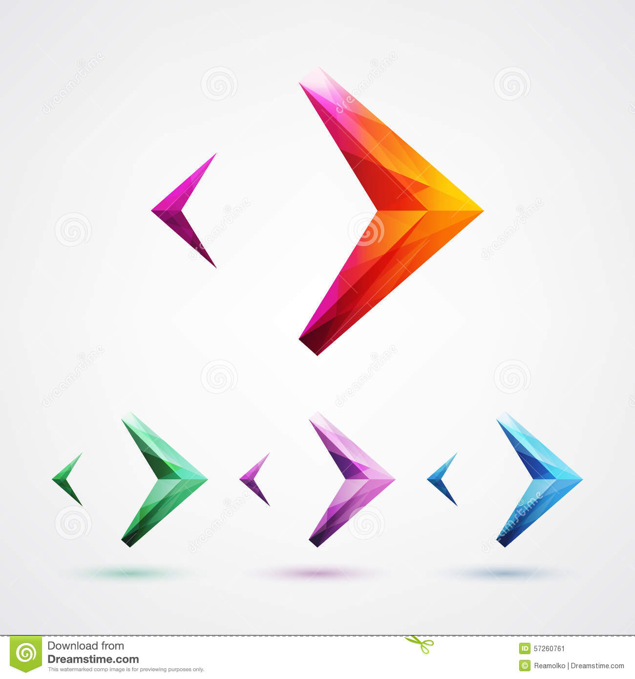 arrow symbol logo design element stock vector illustration of