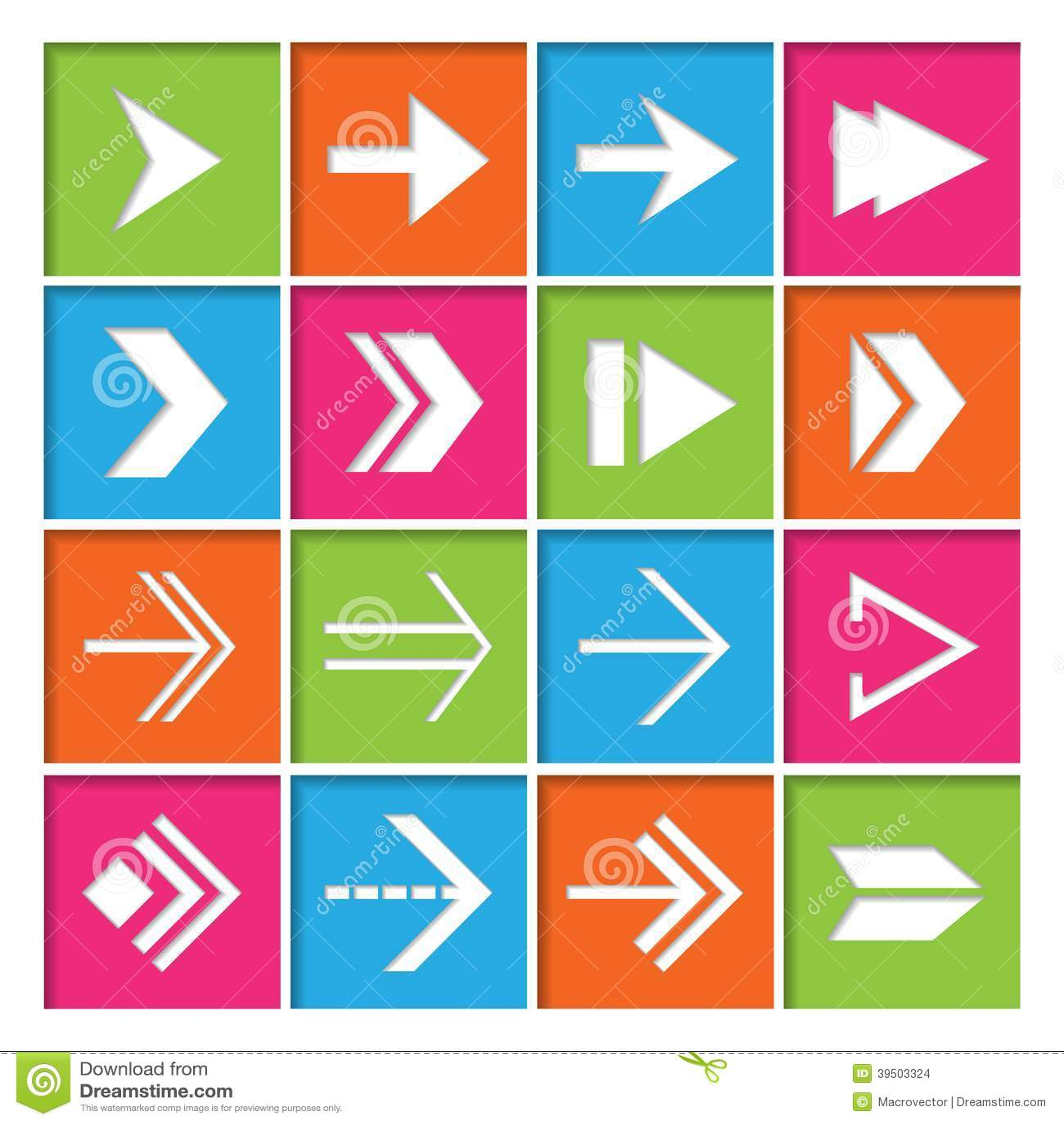 Arrow Symbols Icons Set