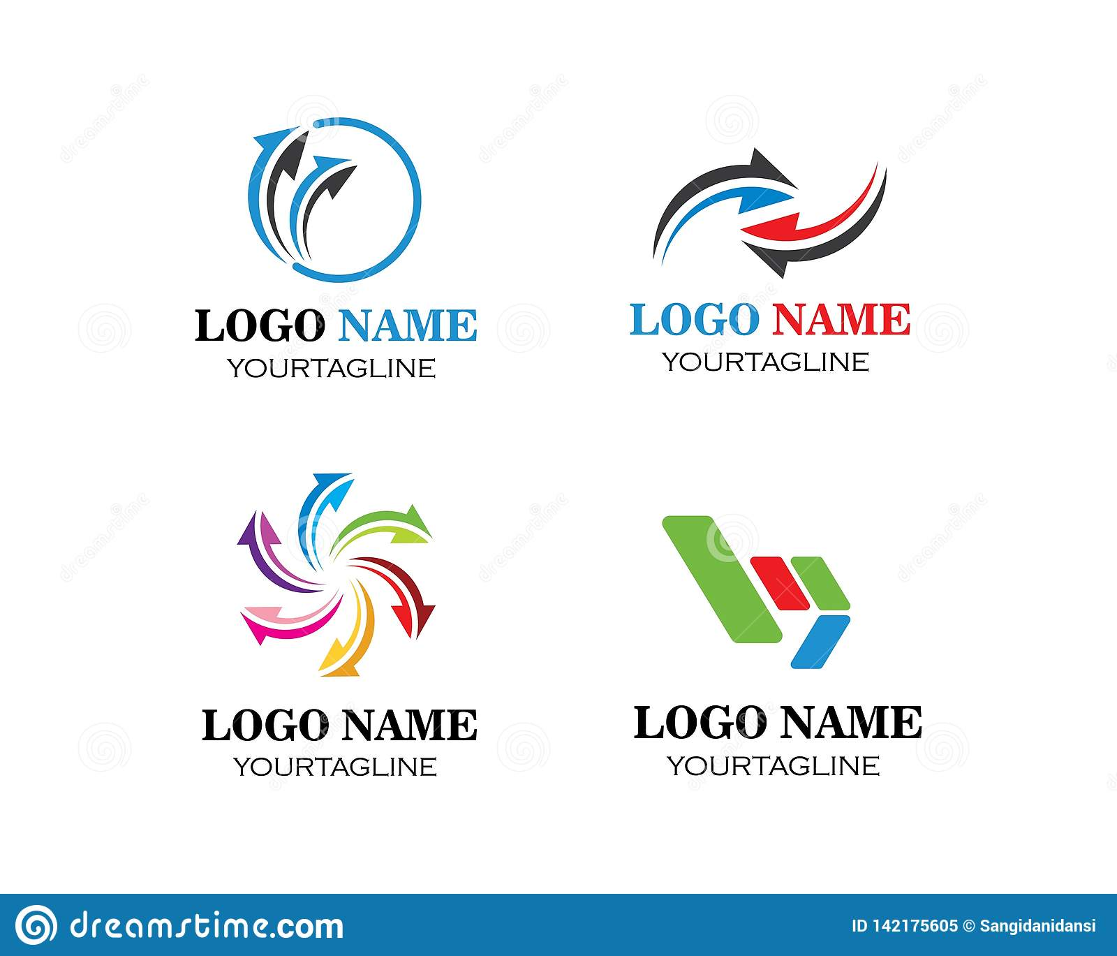 Arrow vector illustration icon Logo Template