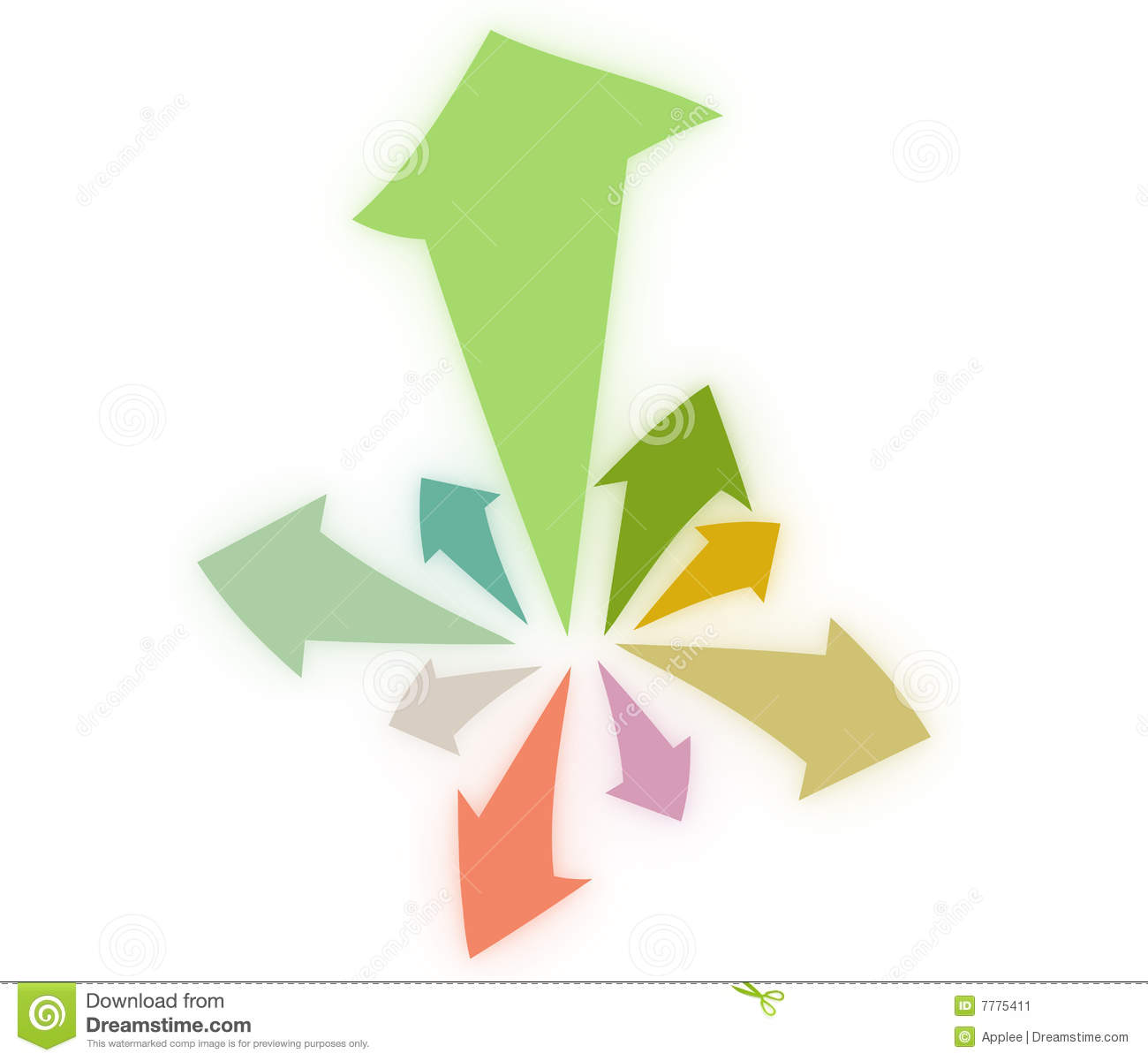 Arrows expanding from center