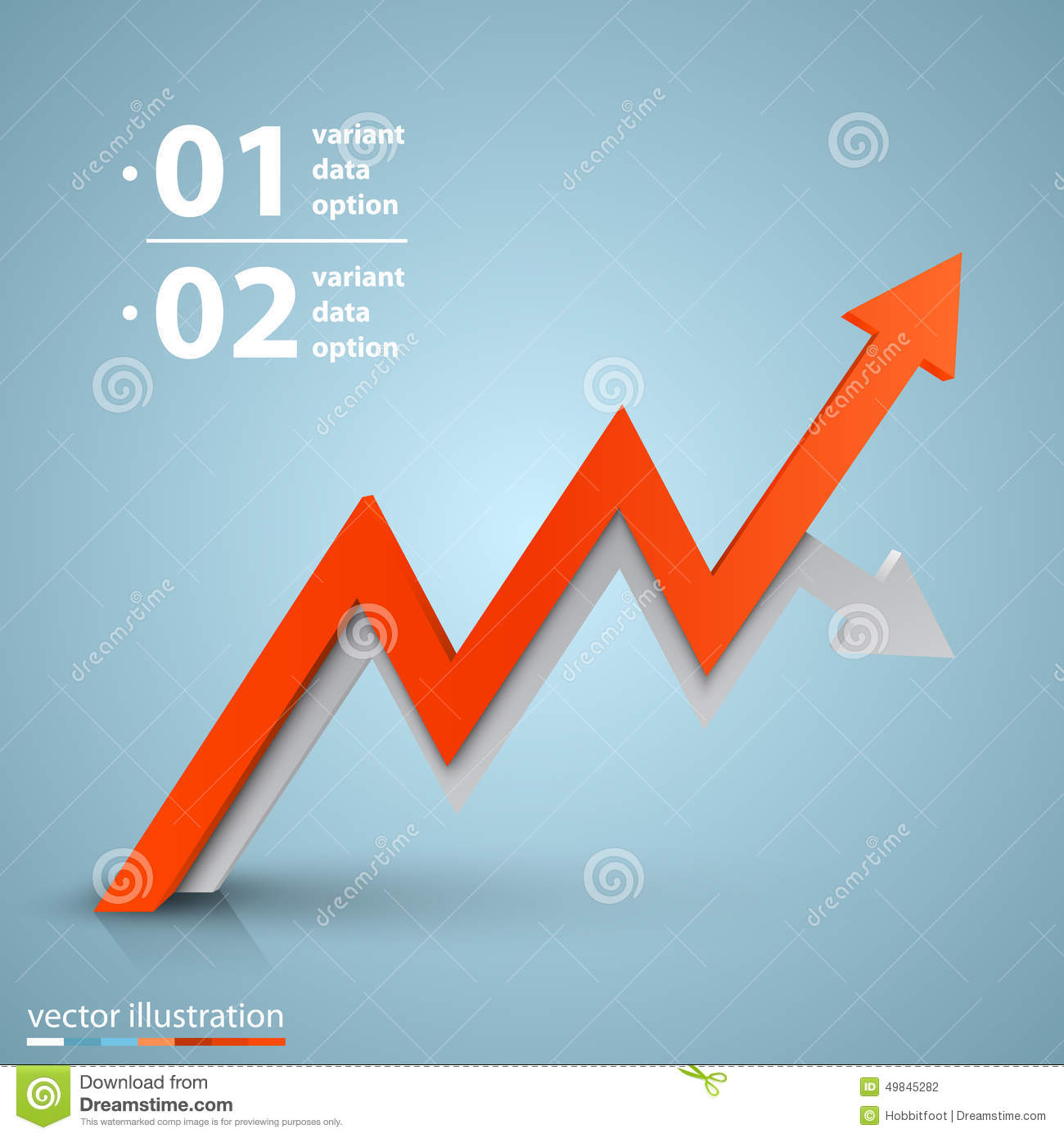 Arrows Business Growth. Vector Stock Vector - Illustration ...