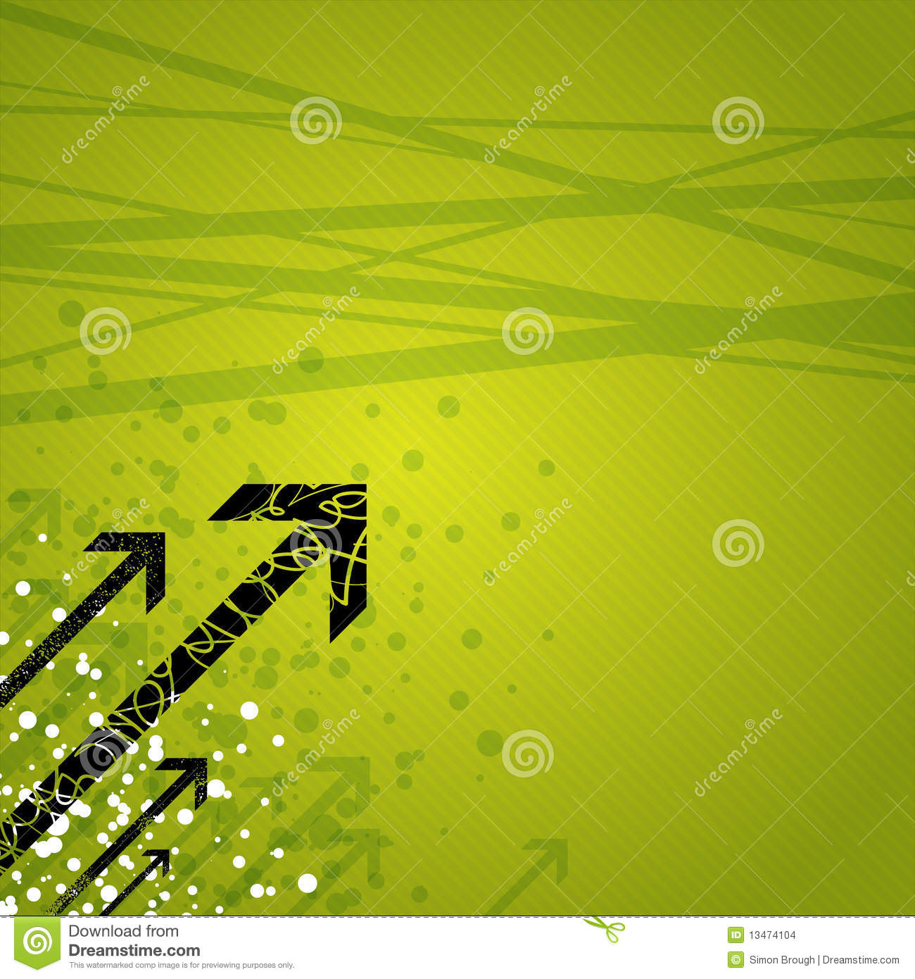 arrows on green background stock vector illustration of