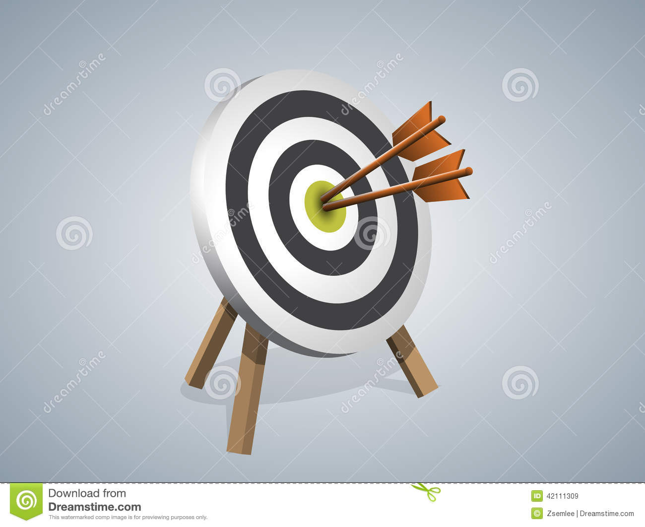 Arrows Hitting A Target