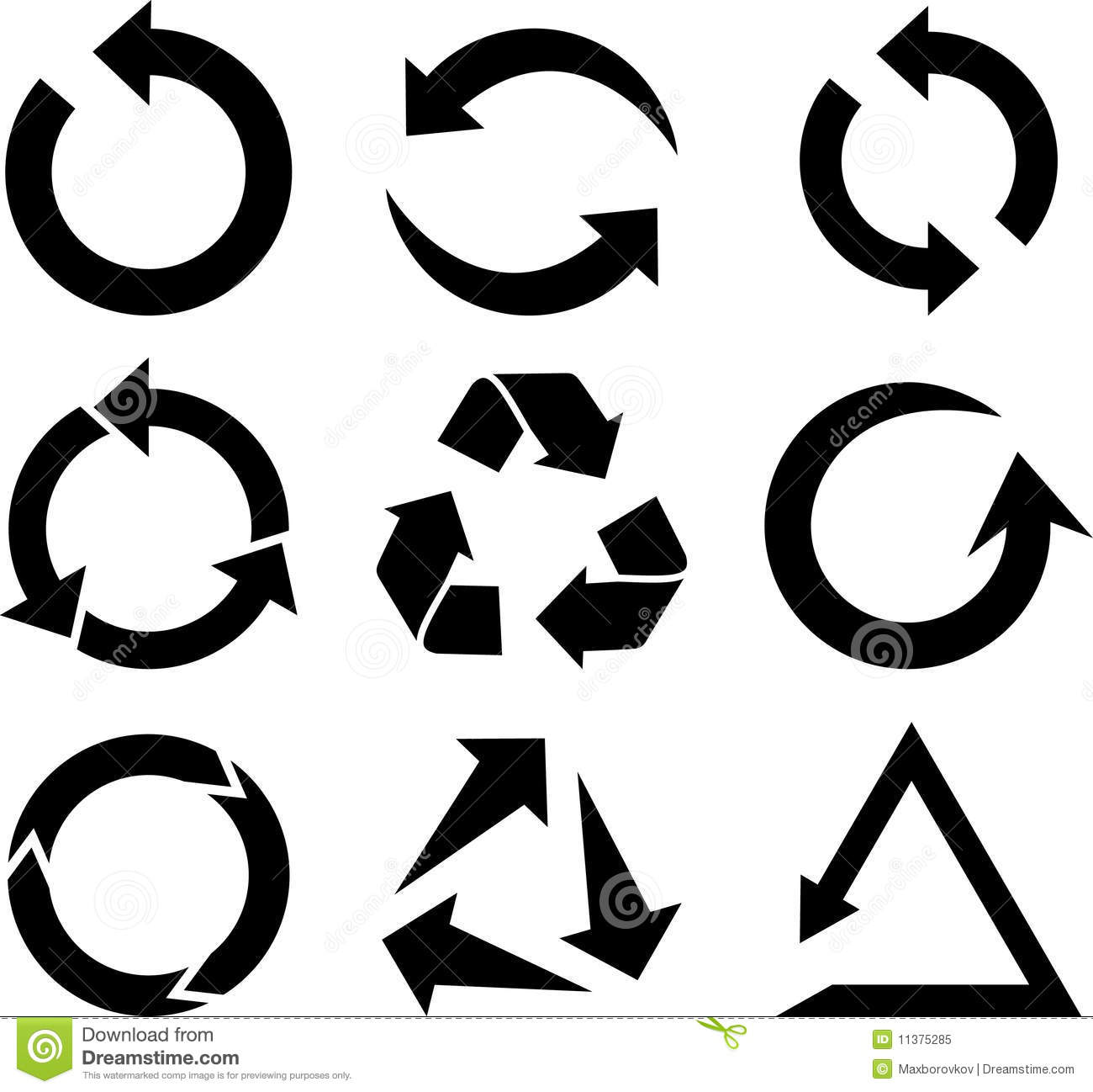 Arrows Icon Set. Royalty Free Stock Photo - Image: 11375285