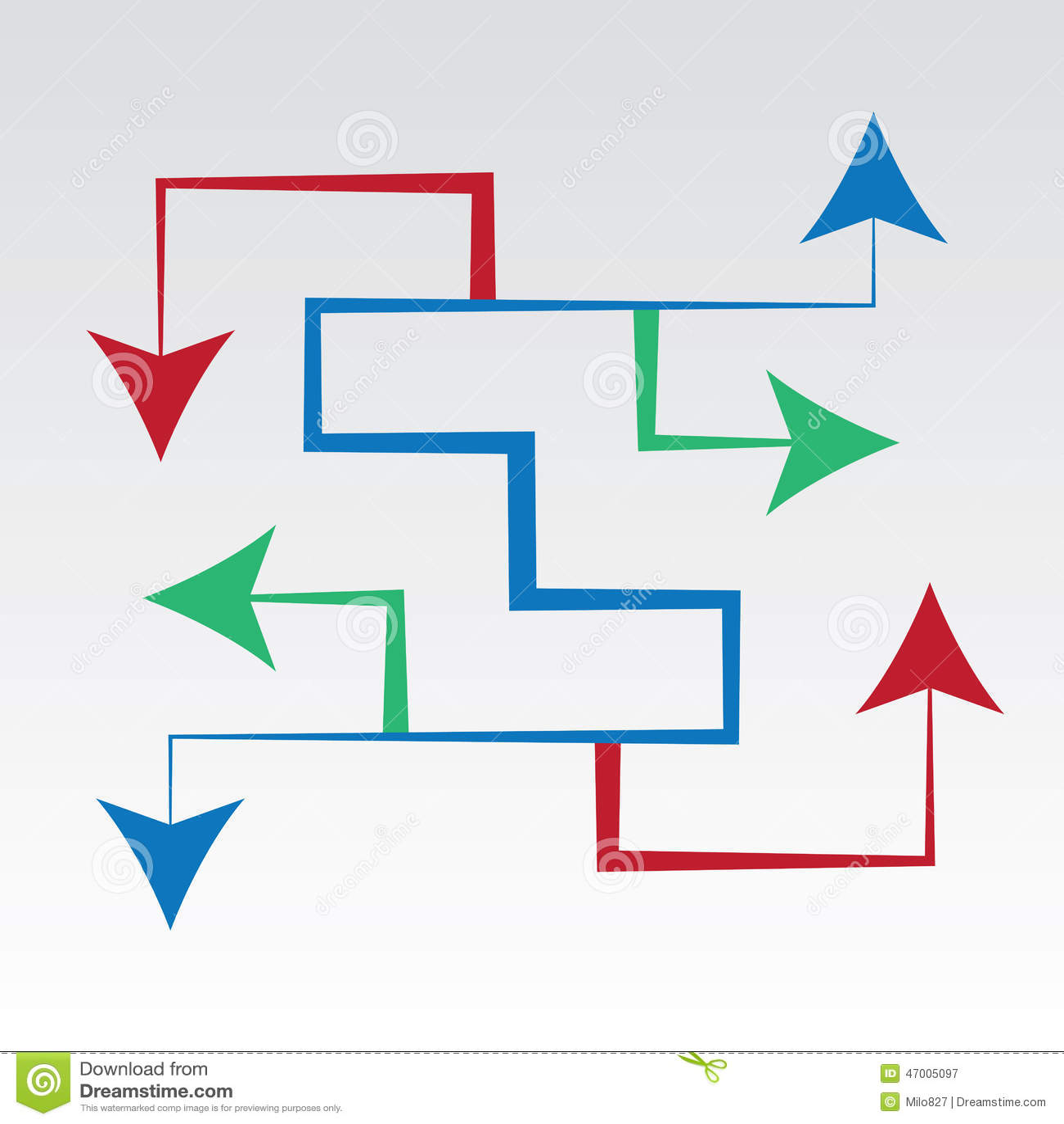 arrows maze all directions illustration 47005097 megapixl