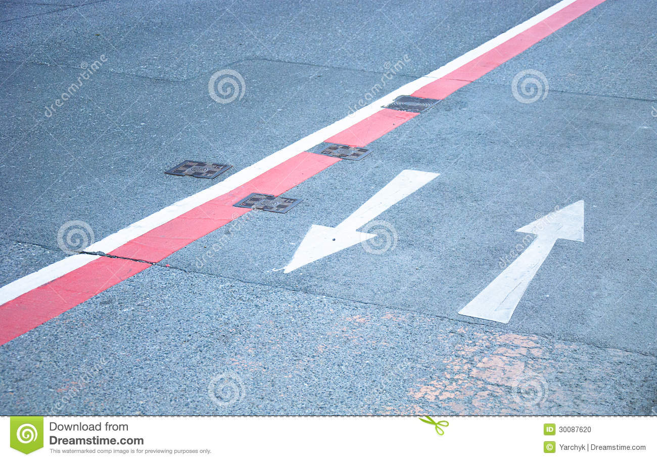 Road Marking Direction Arrows Stock Photo - Image: 30087620