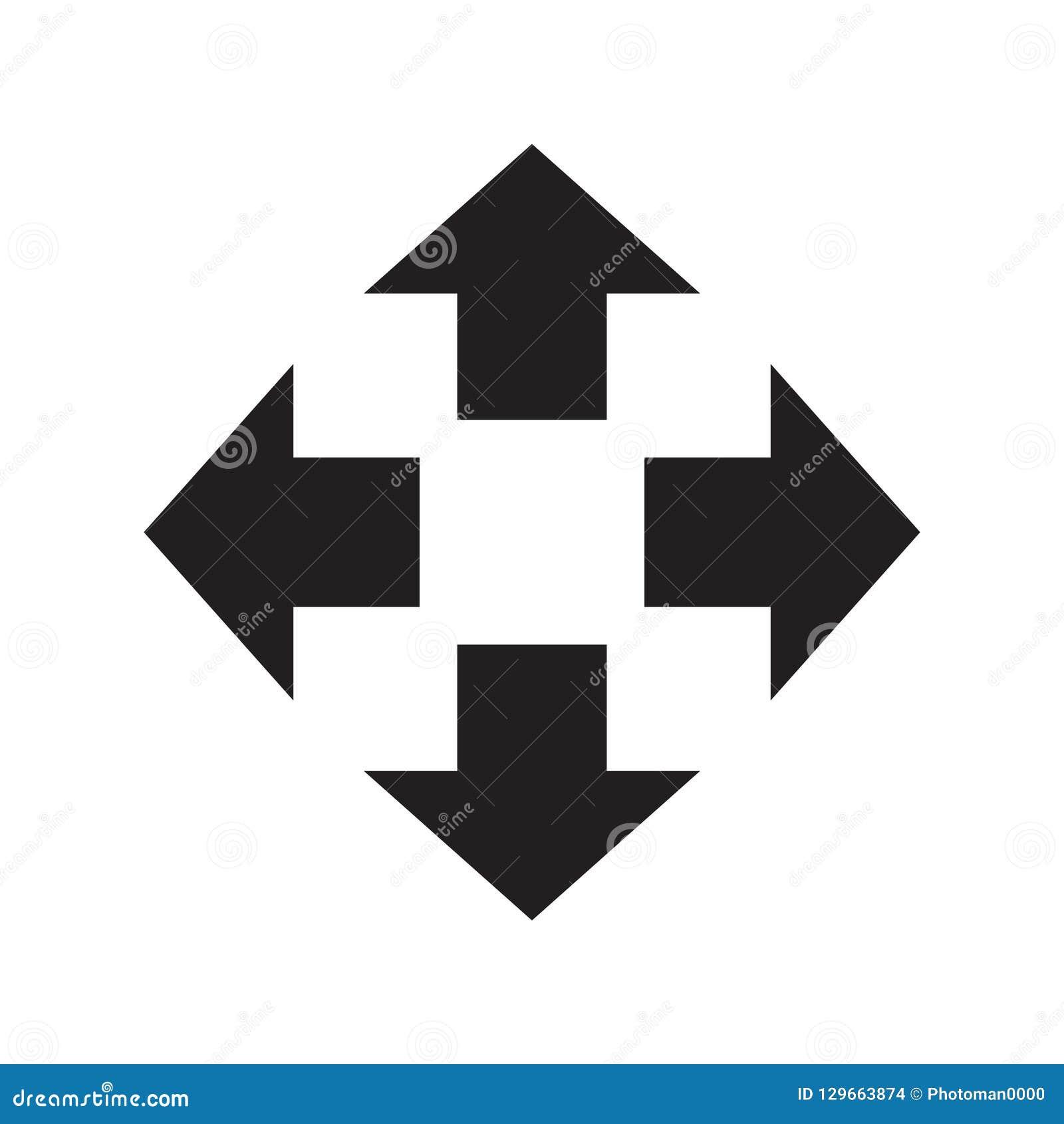 Arrows to the four destinations