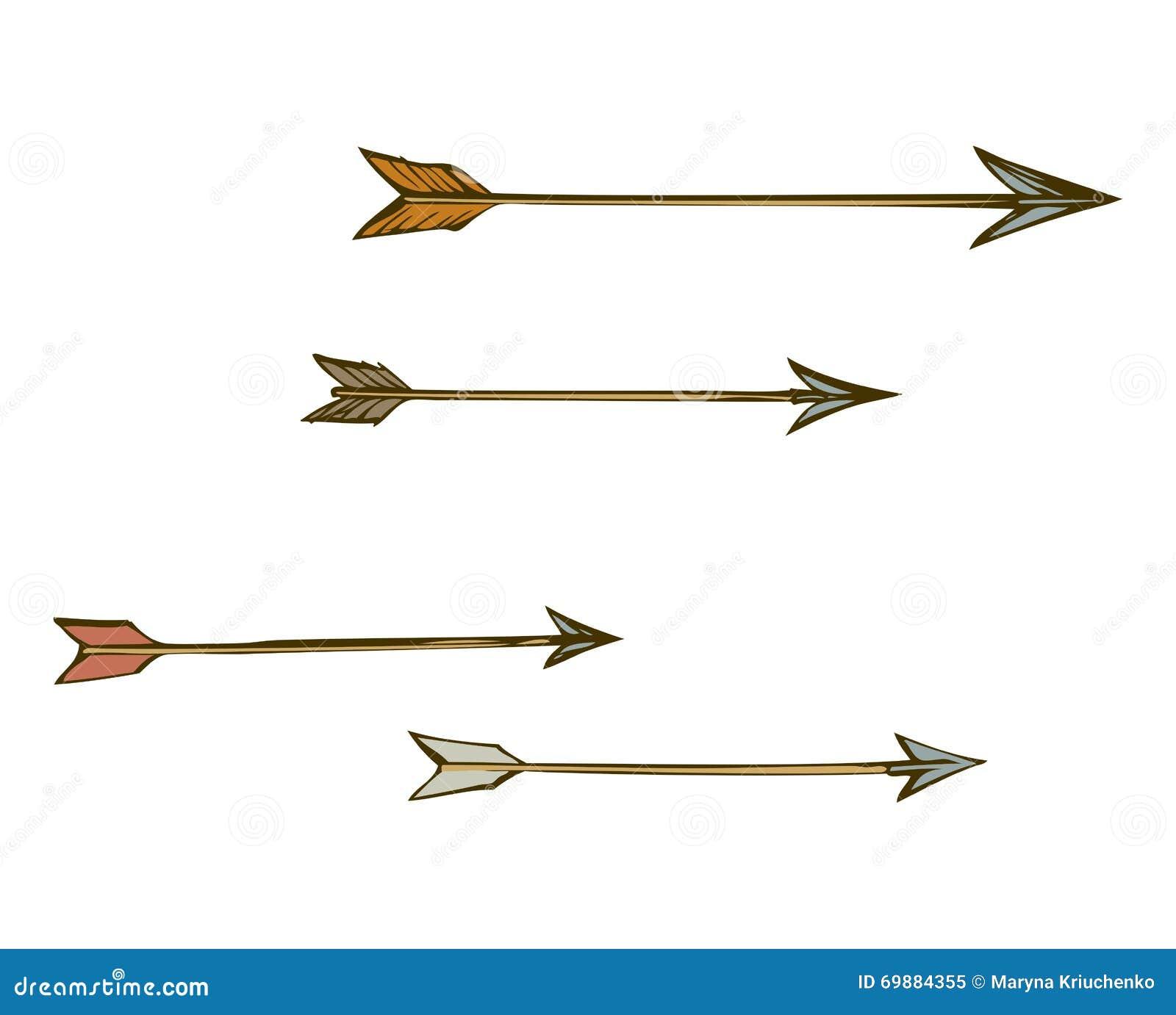 Arrows. Vector Drawing Stock Vector - Image: 69884355