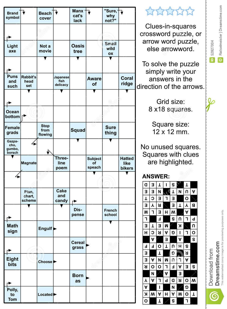 Arrowword clues in squares crossword puzzle stock vector arrowword clues in squares crossword puzzle answer puzzles biocorpaavc Gallery