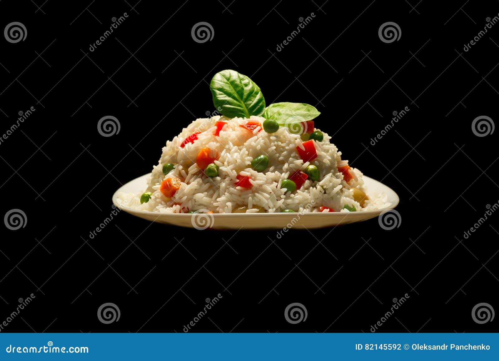 Verduras risotto de carne y