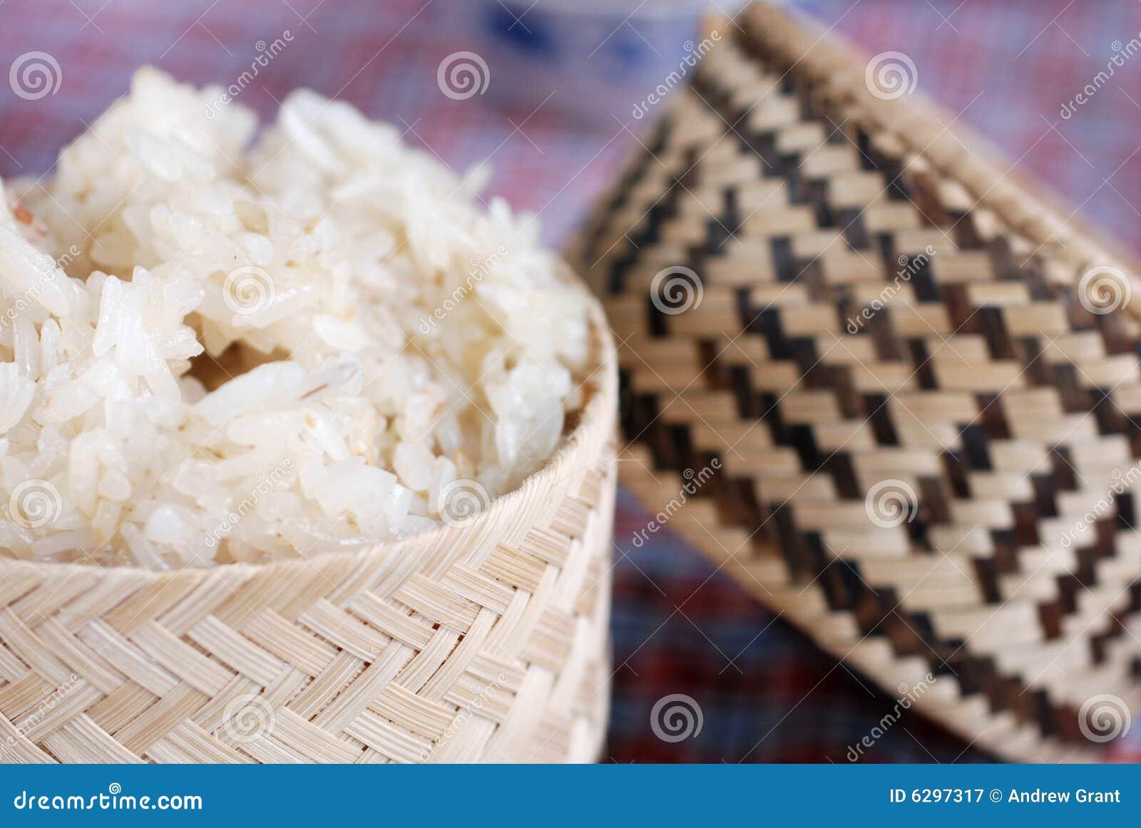 Arroz pegajoso tradicional
