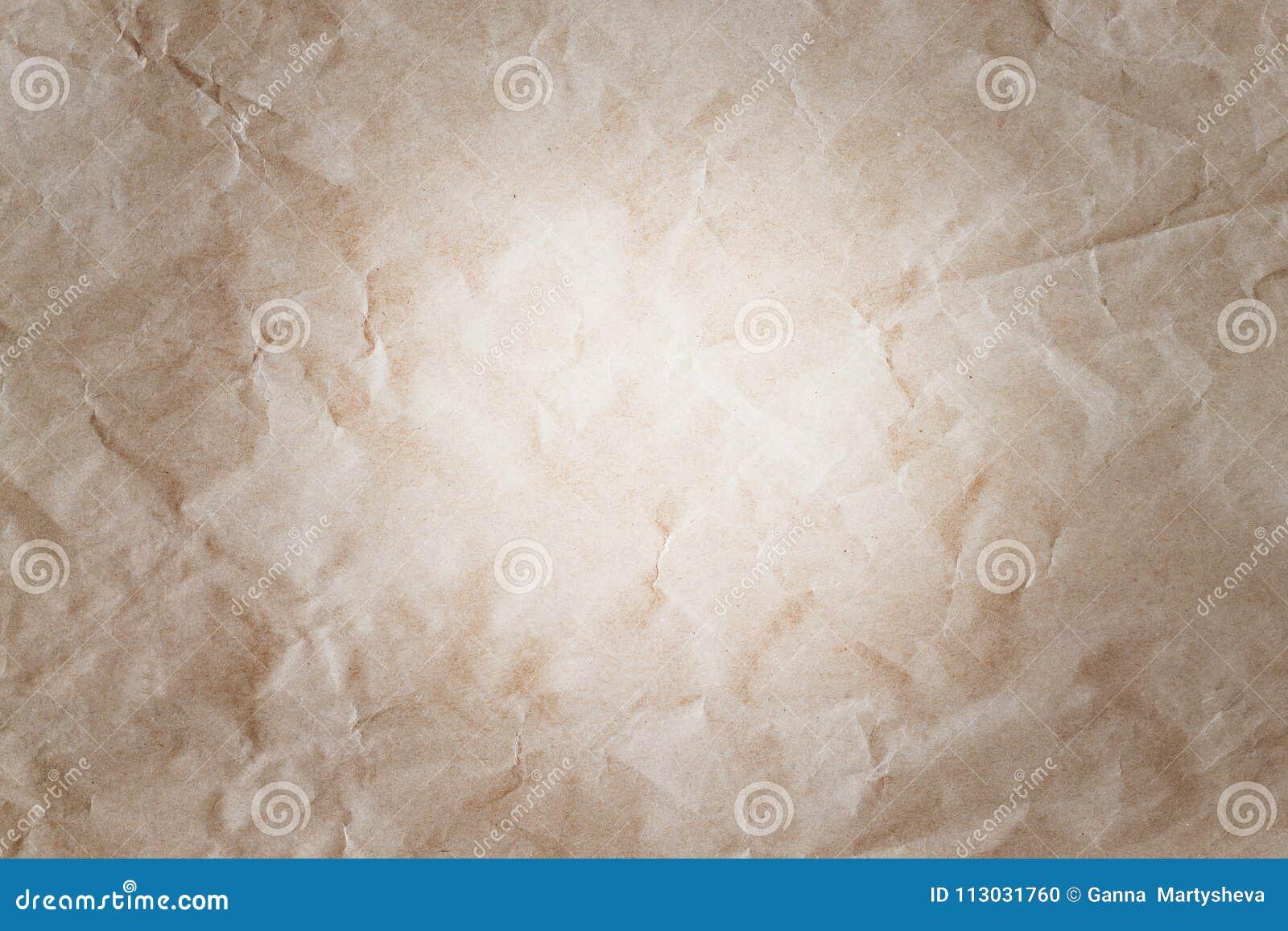 Arrugado, pergamino, fondo, papel, grunge, viejo, textura,