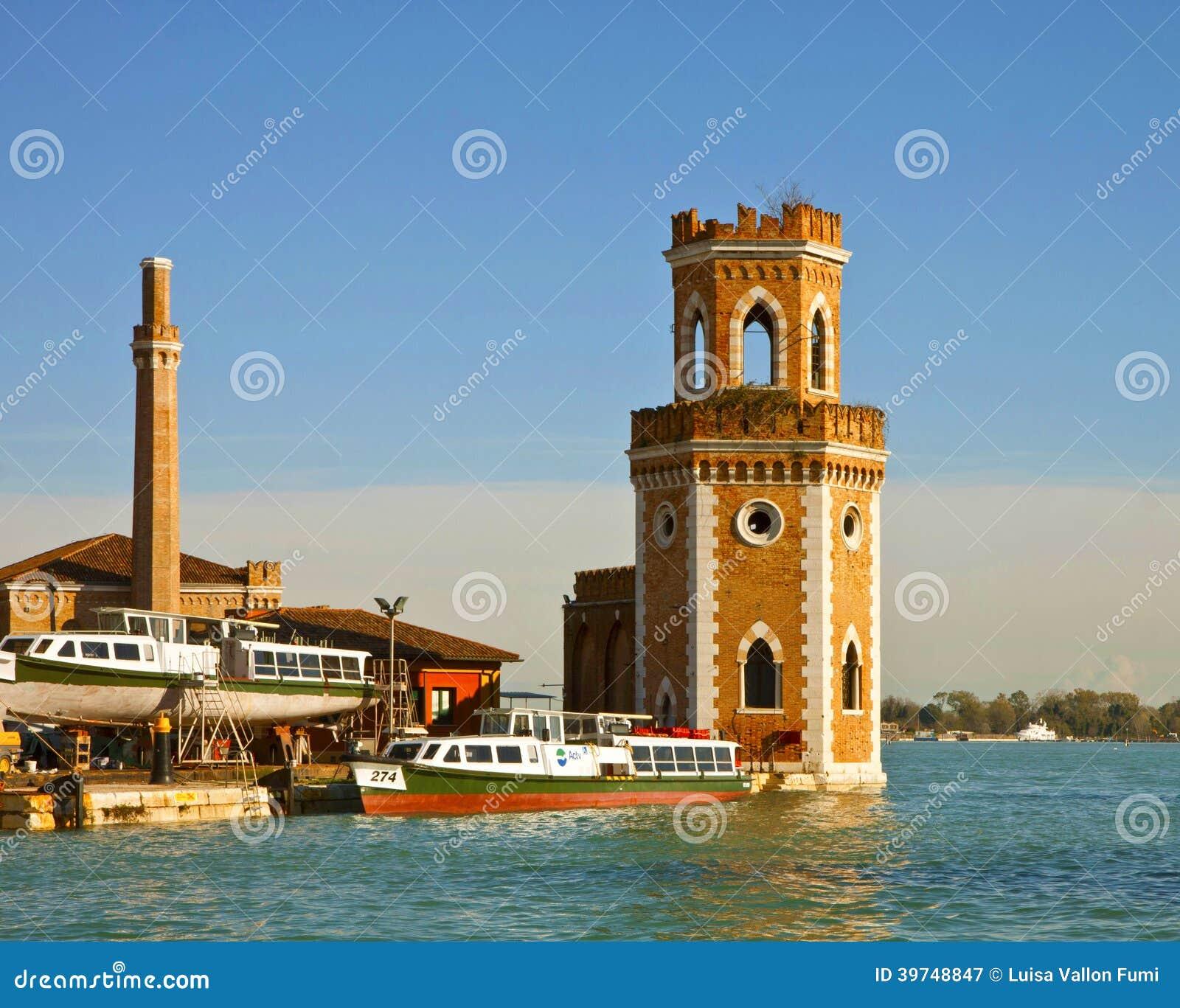 arsenale di venezia torre di guardia antica dell 39 entrata