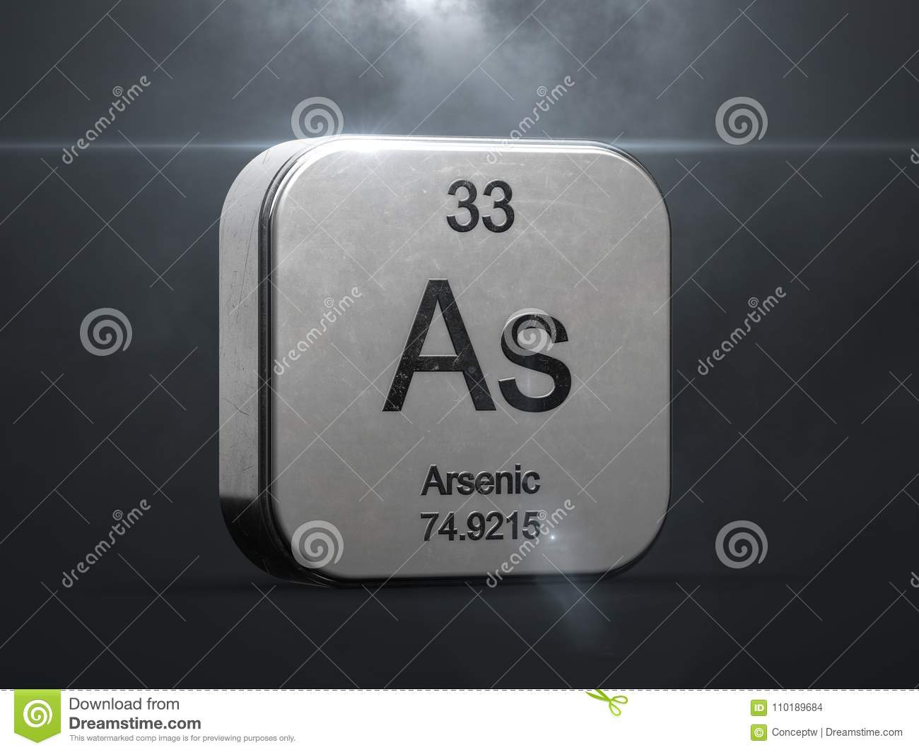 Arsenic element from the periodic table