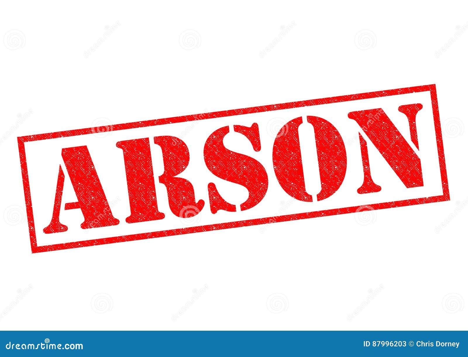 ARSON Rubber Stamp