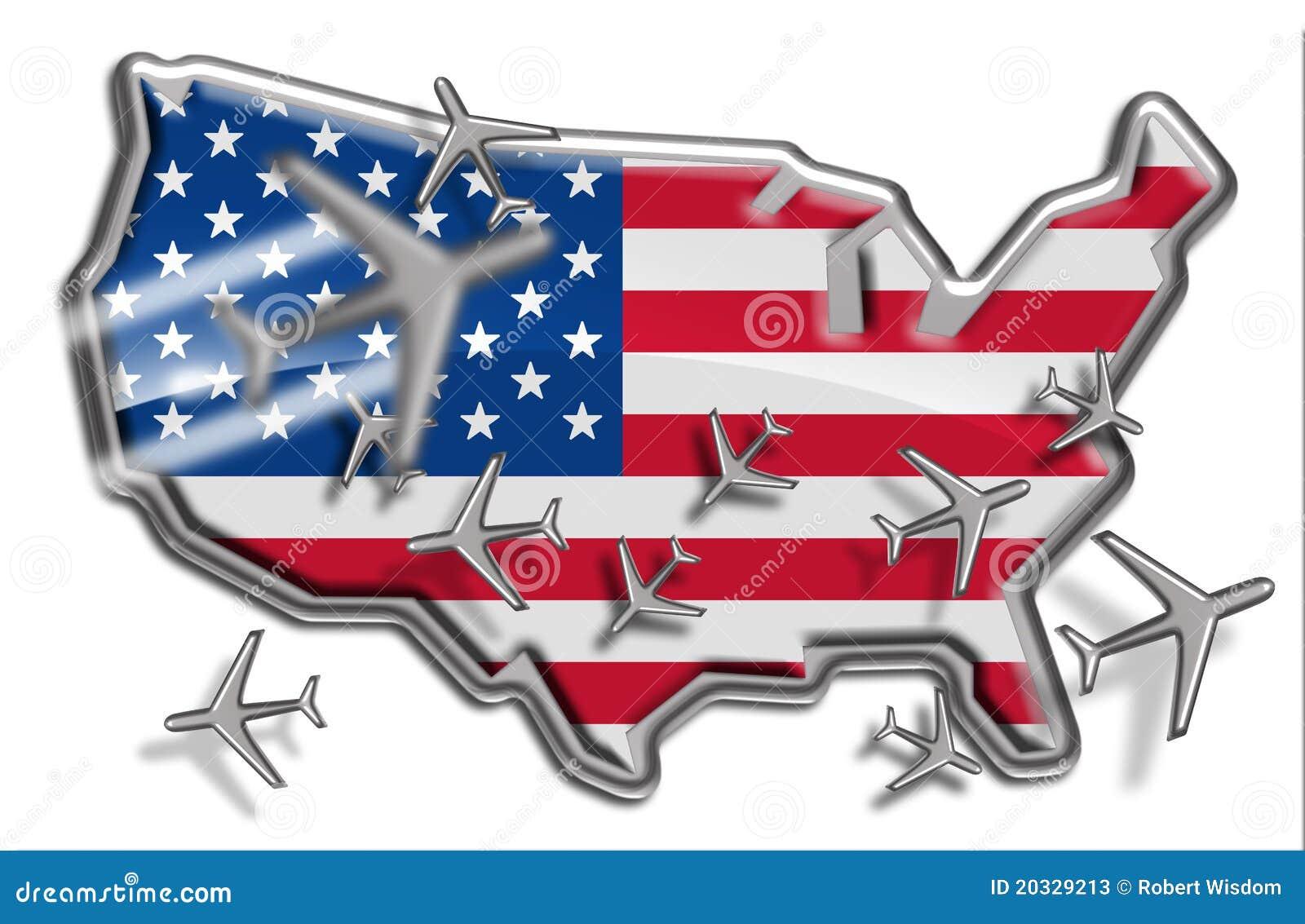 Artères de vol des Etats-Unis