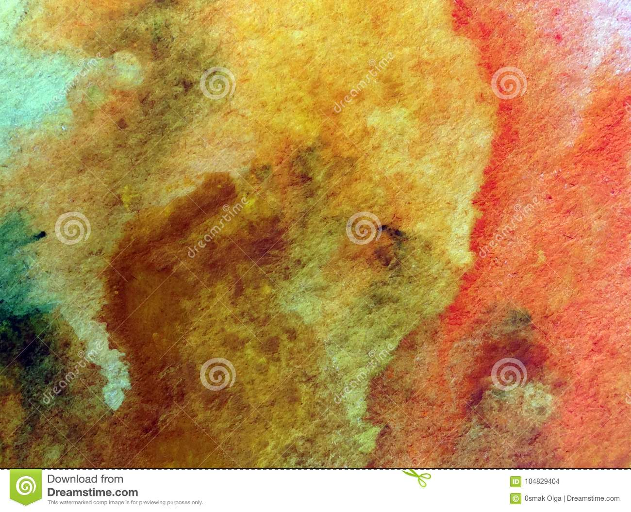 Watercolor Art Background Abstract Stones Sand Textured Wet Wash