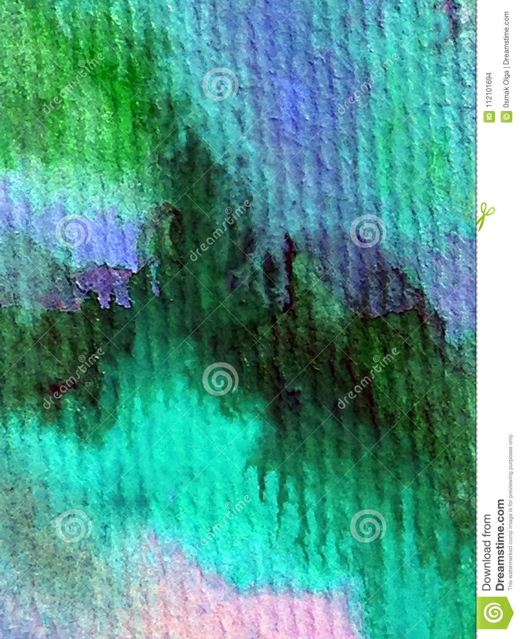 Watercolor art background abstract underwater world sea blue strokes textured wet wash blurred fantasy
