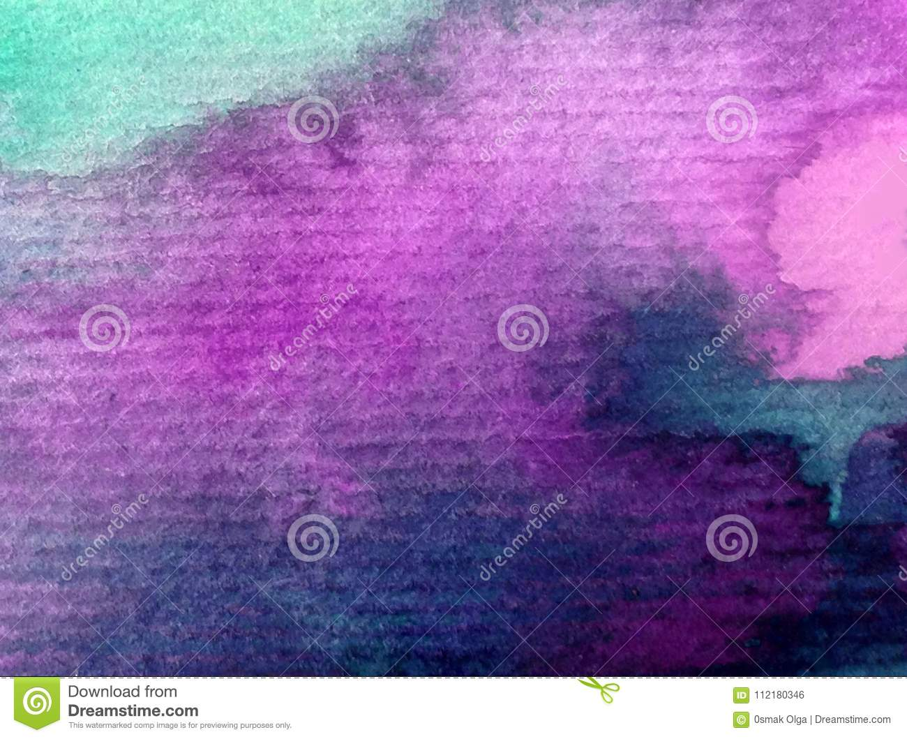 Watercolor art background abstract sky sunrise sunset textured wet wash blurred fantasy