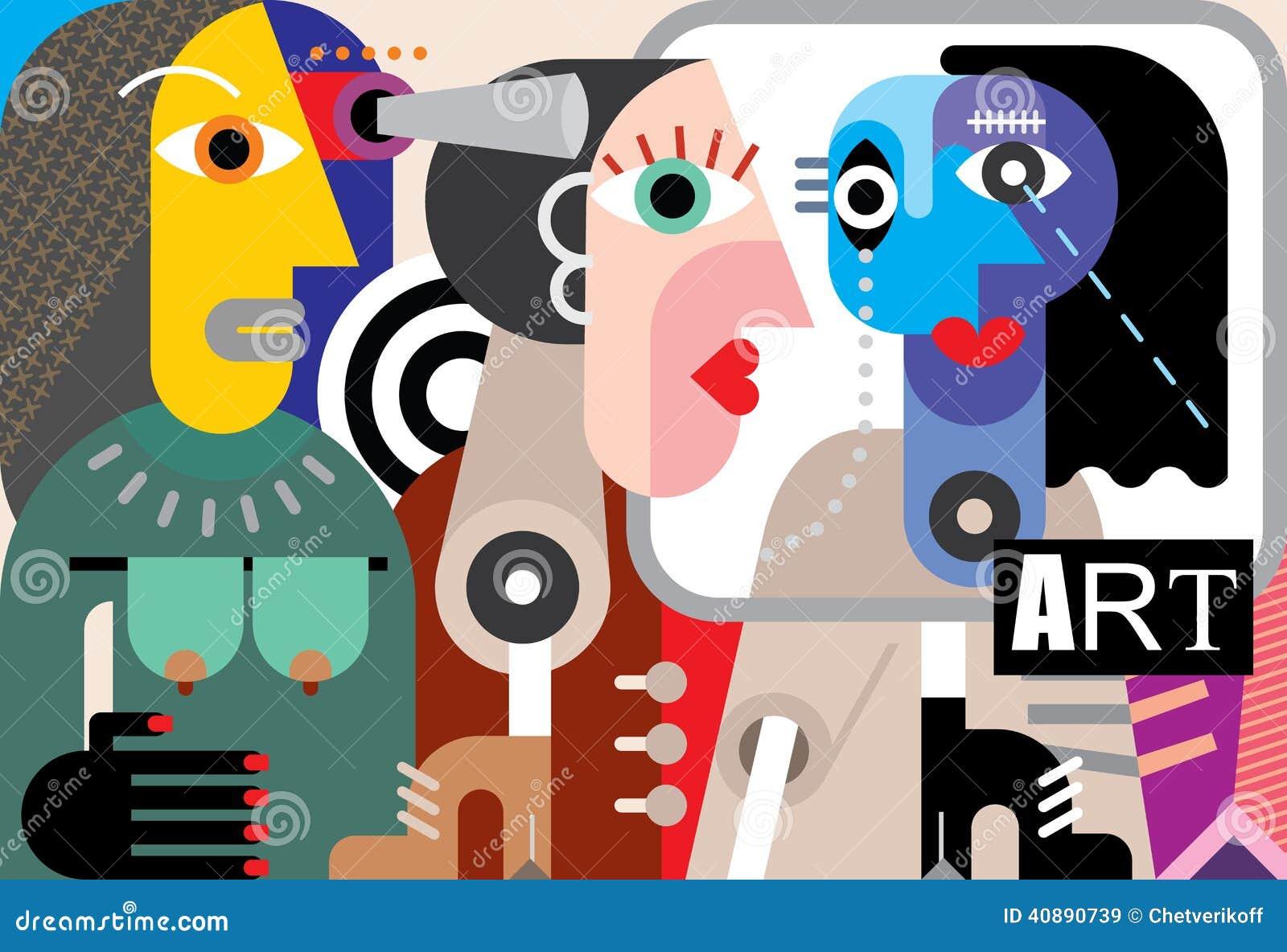 Art abstrait illustration de vecteur image 40890739 for Art contemporain abstrait