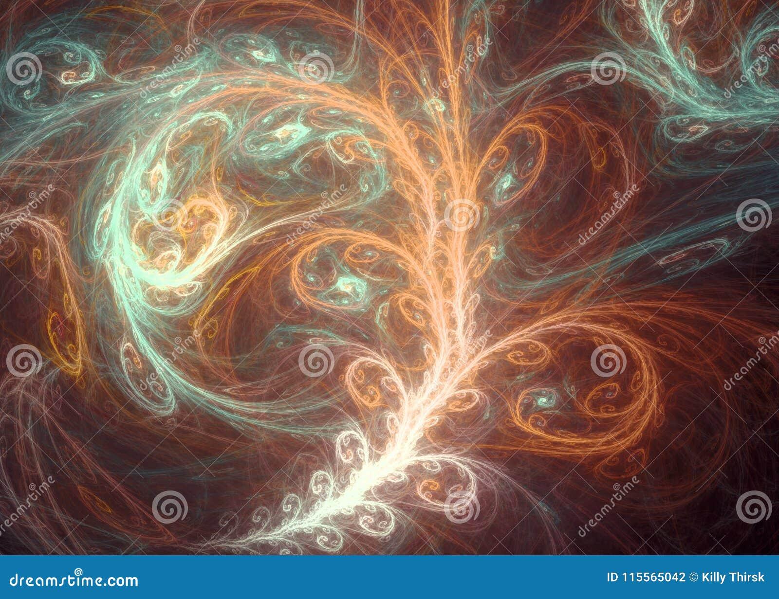 Art abstrait brillant de fractale d arbre d Aliened
