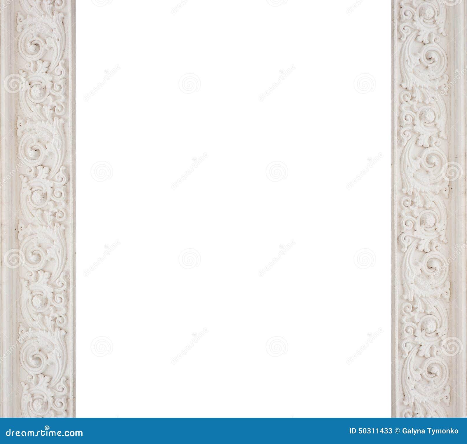 Art Architectural White Frame Molding Stock Image - Image of full ...