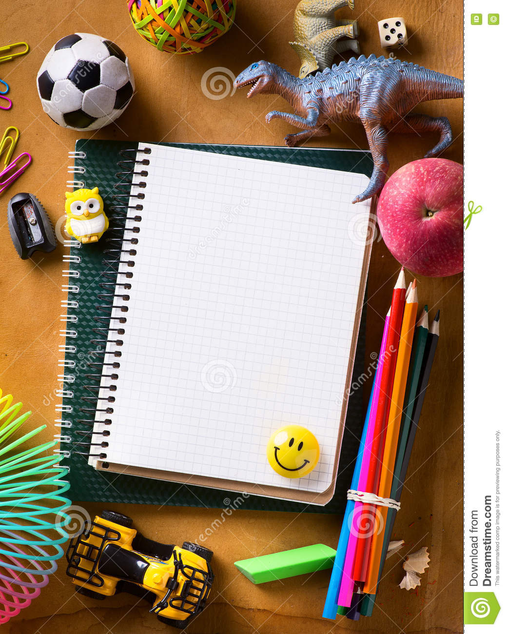 Art Back To School Background Stock Image