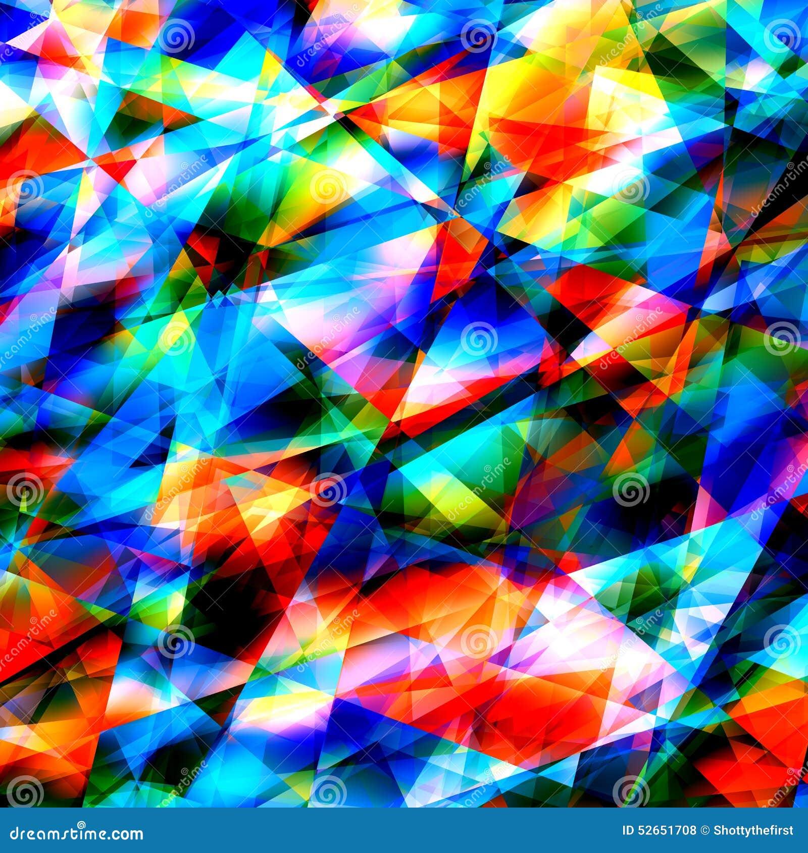 Super Art Background Géométrique Coloré Verre Criqué Ou Cassé  BR24