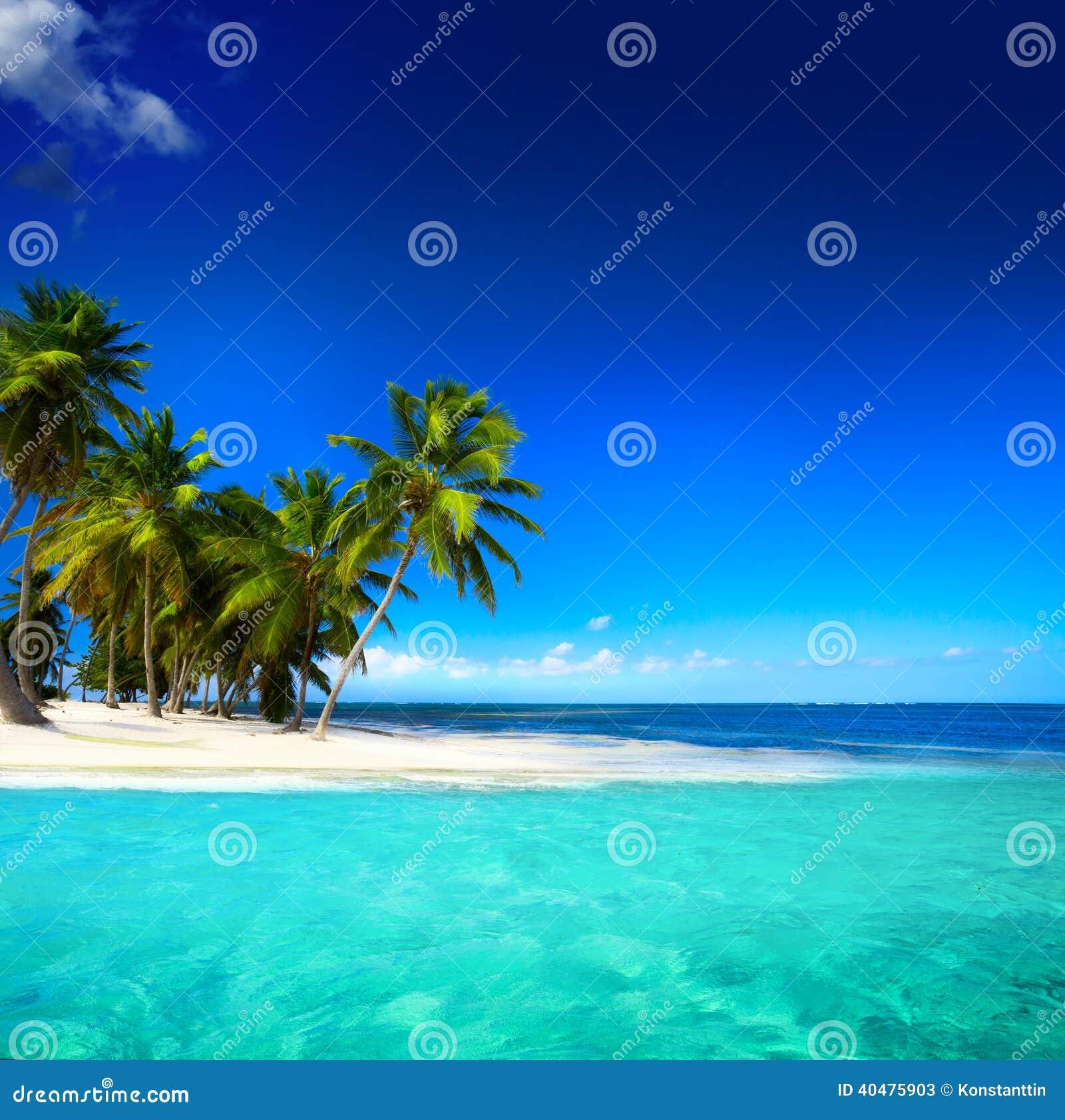 Tropical Island Beaches: Art Beautiful Seaside View Background Stock Image