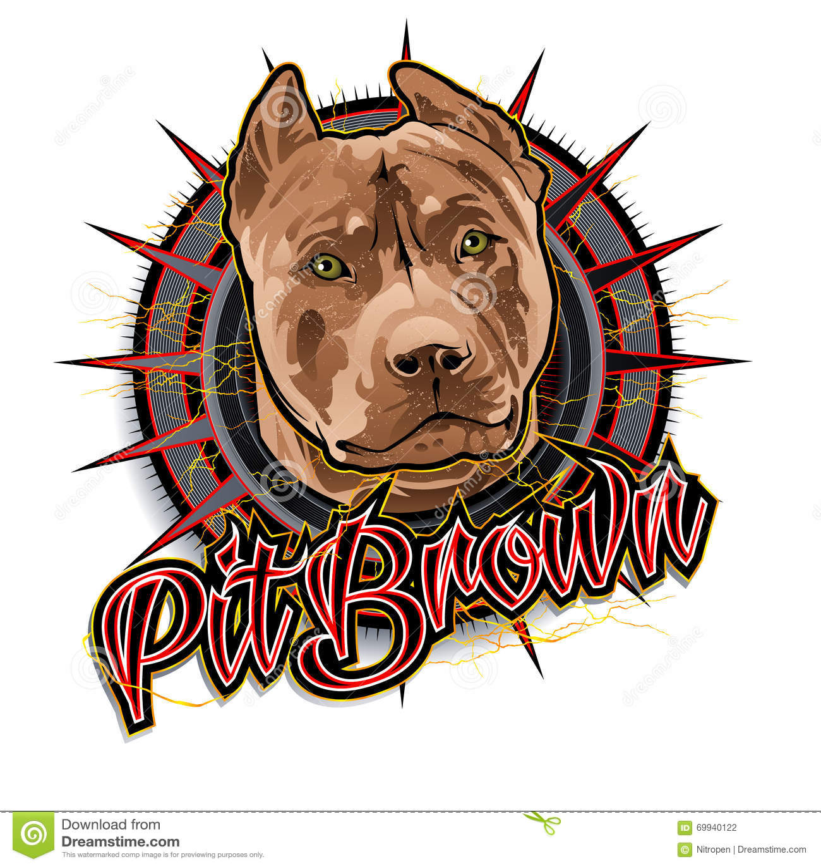 Art brun de chien de mine