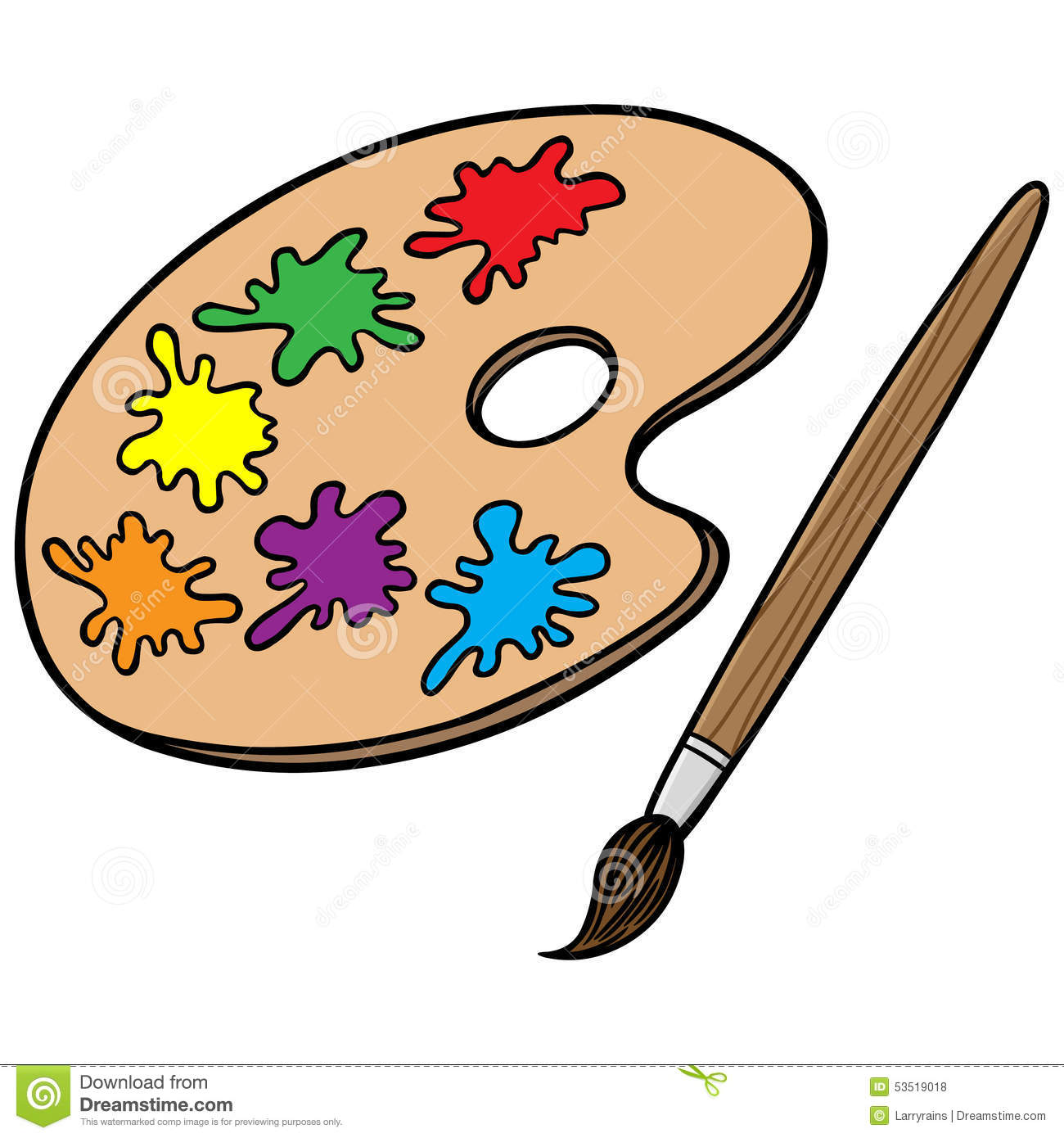 Art Brush And Palette Stock Vector Image Of Hobbies