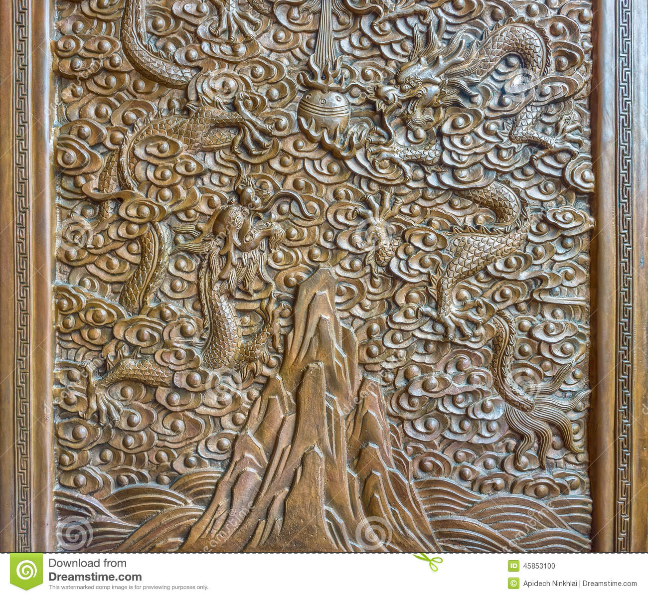 The art of chinese wood engraving stock photo image for Wood in chinese