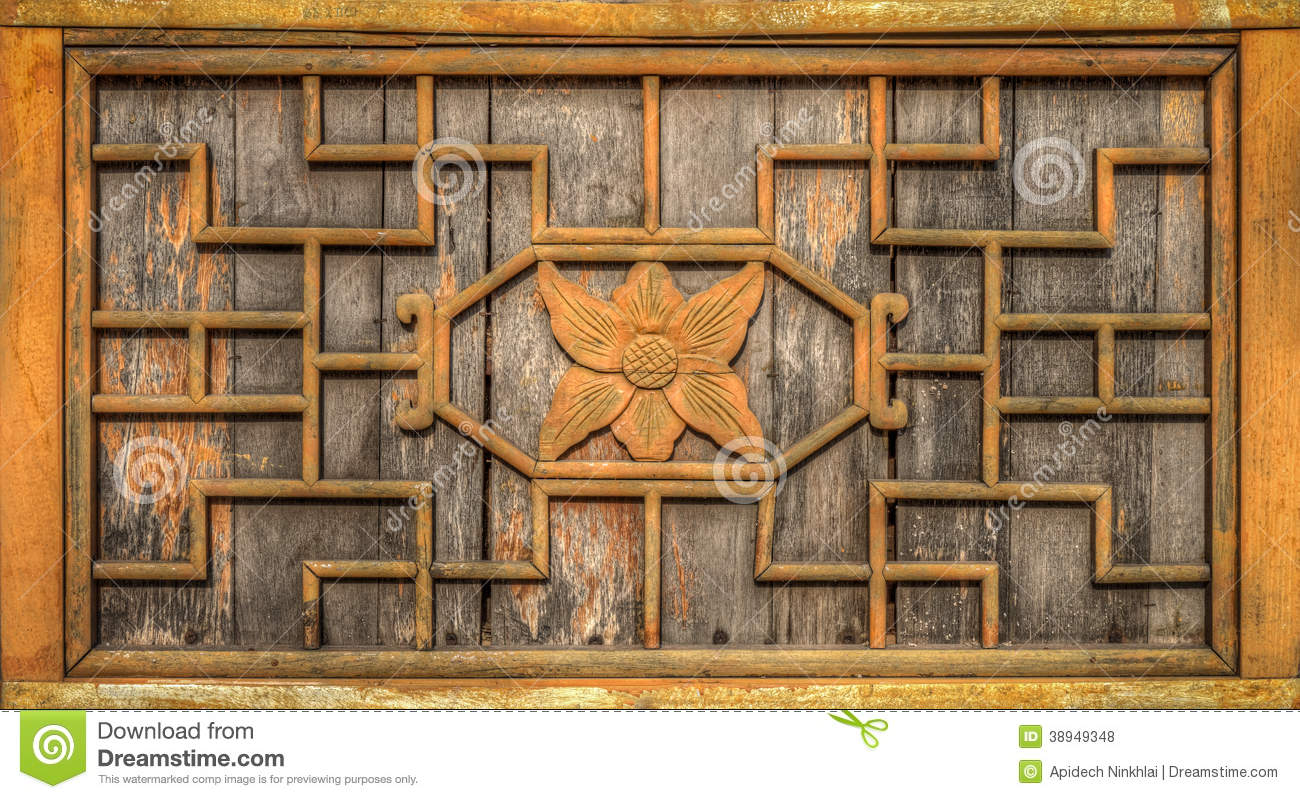 Wooden Wall Frame Is Decorated With Carving Wood Designed In Chinese