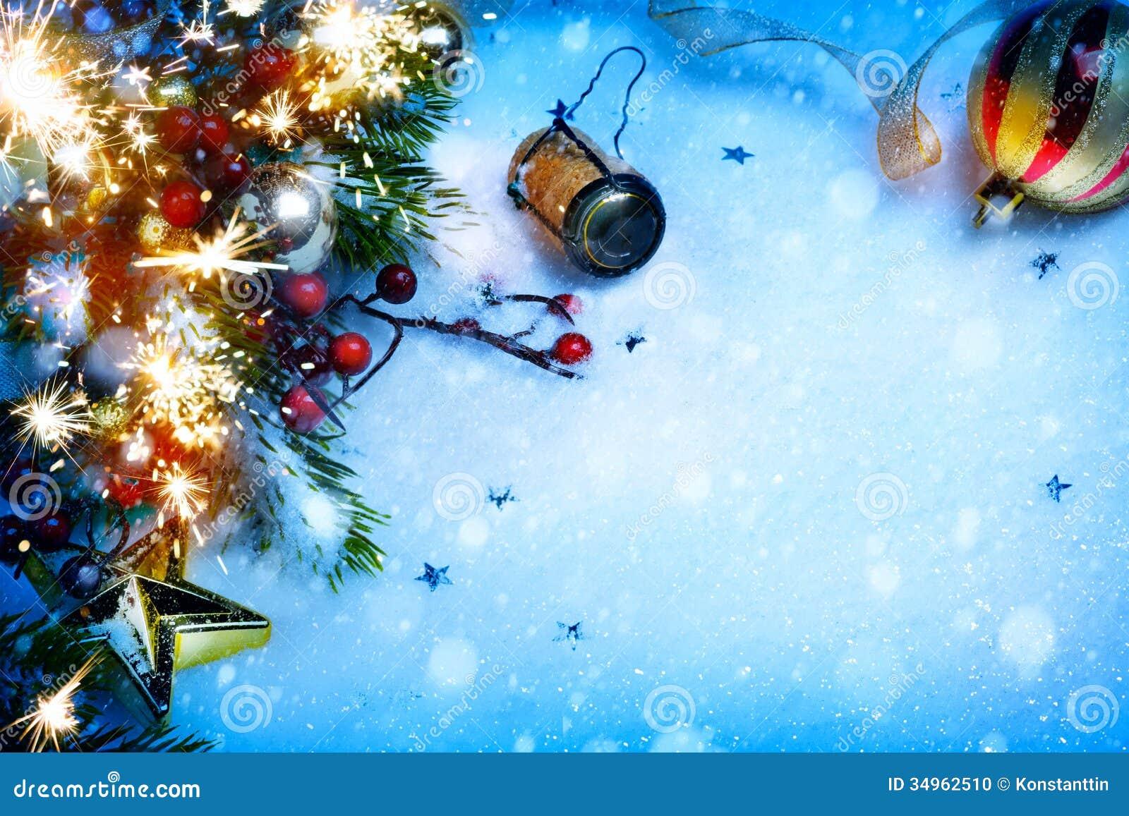 Art Christmas en de Nieuwe achtergronden van de jaarpartij