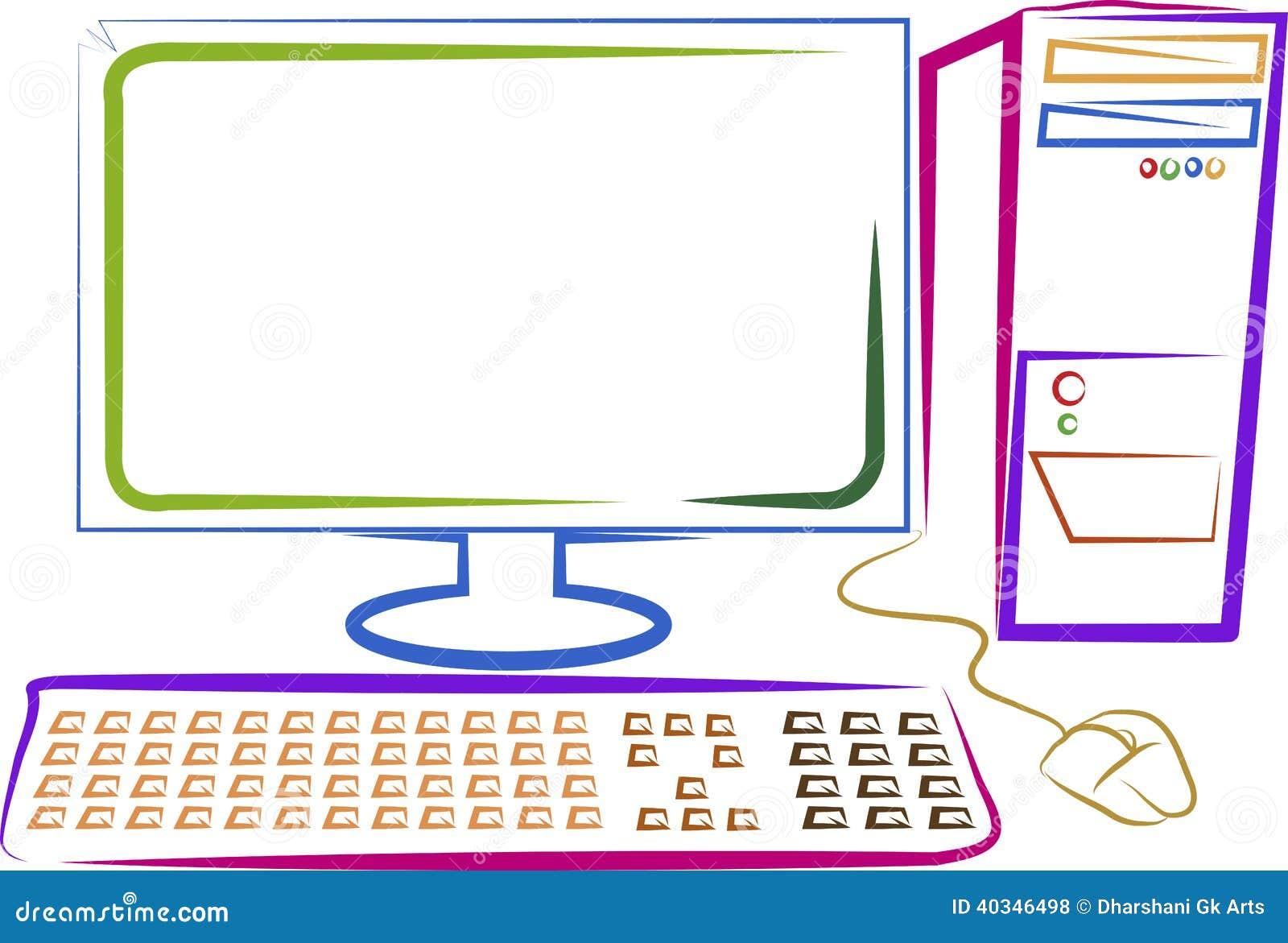 Art Computer Stock Vector Image 40346498